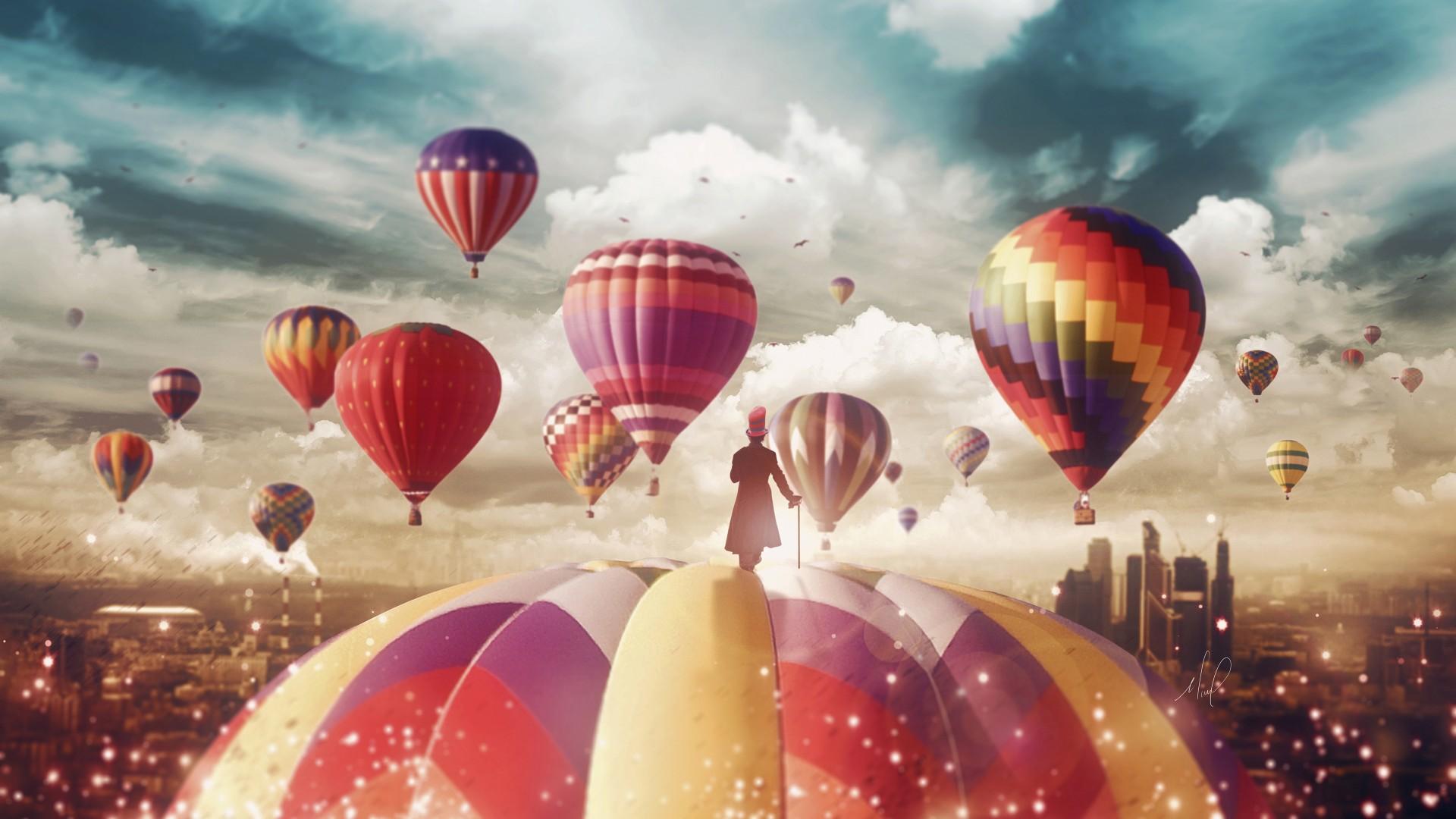 Ultra Hd Wallpapers 8k Girl Hot Air Balloons Magician 4k Wallpapers Hd Wallpapers