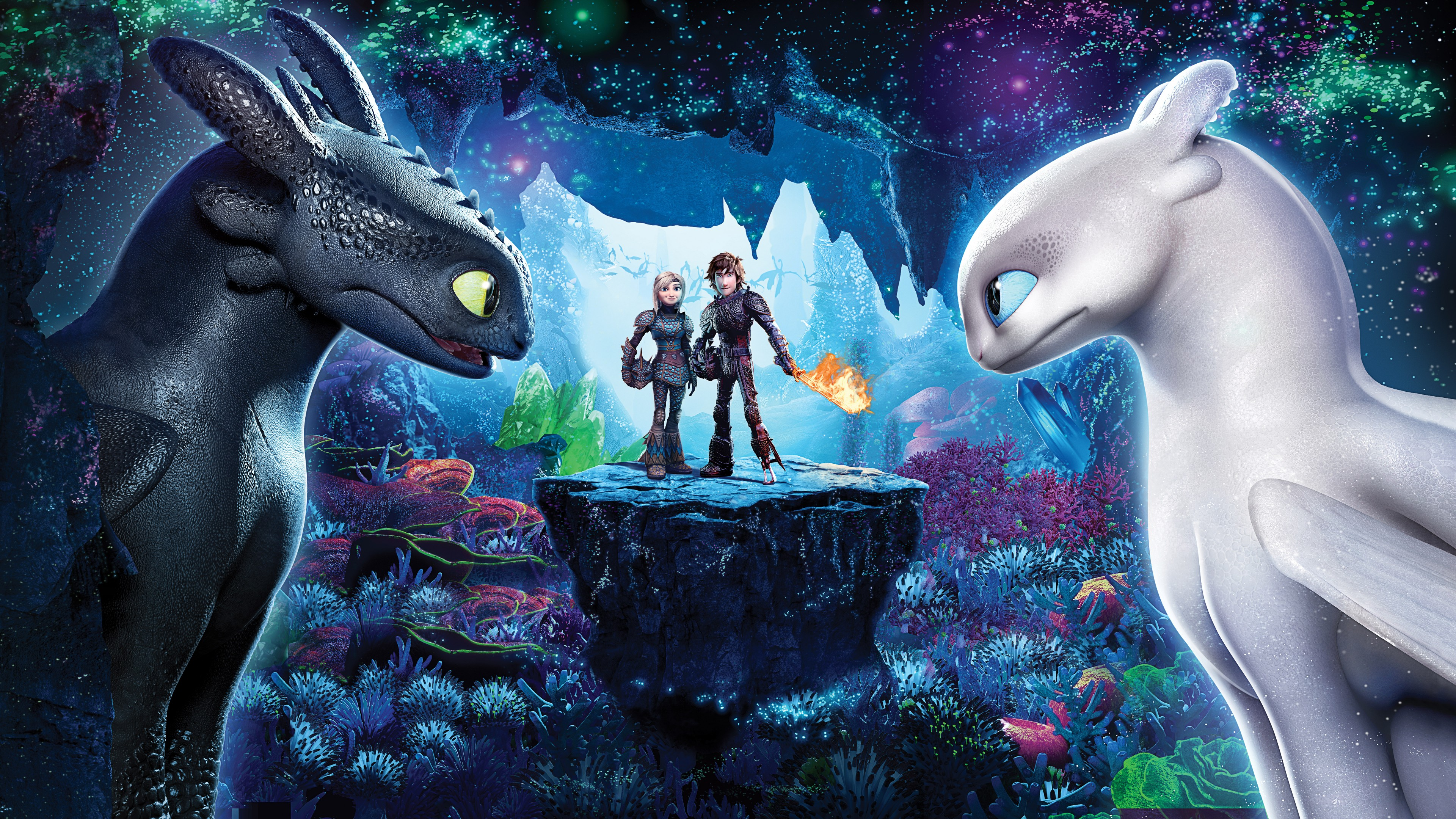 3d Wallpaper For Ipad Pro How To Train Your Dragon 3 The Hidden World 4k 8k