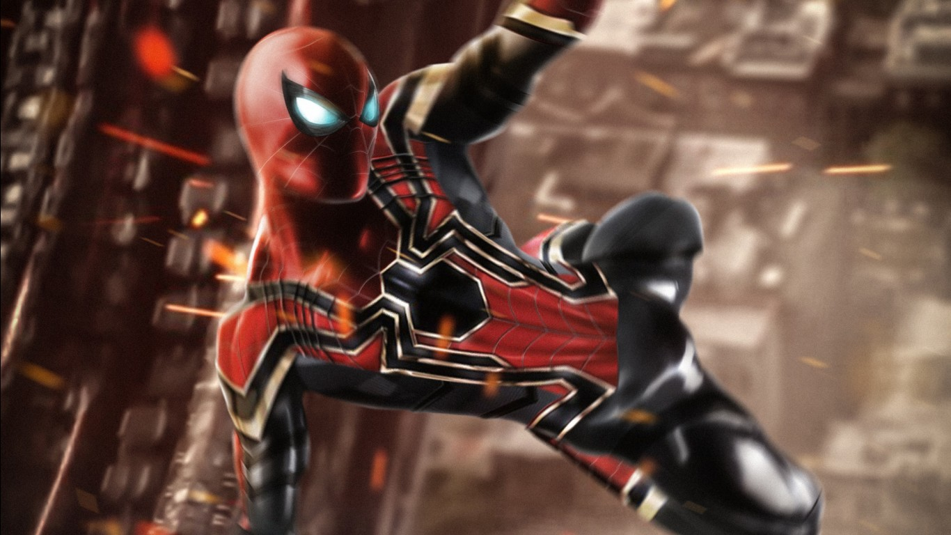 Iphone X Stock Wallpaper 4k Download Iron Spider Wallpapers Hd Wallpapers Id 25351