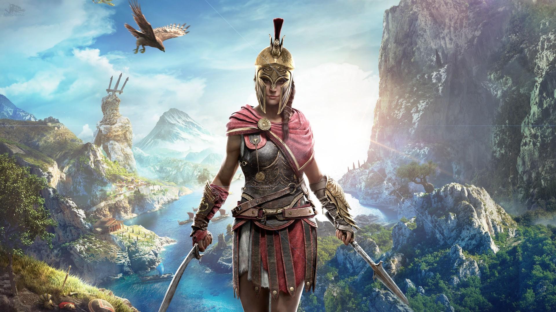 Final Fantasy X Wallpaper Iphone Kassandra In Assassin S Creed Odyssey 4k Wallpapers Hd