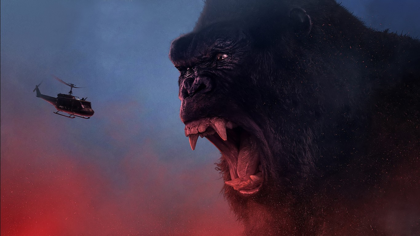 K 3d Wallpaper Download Kong Skull Island 2017 4k Wallpapers Hd Wallpapers Id