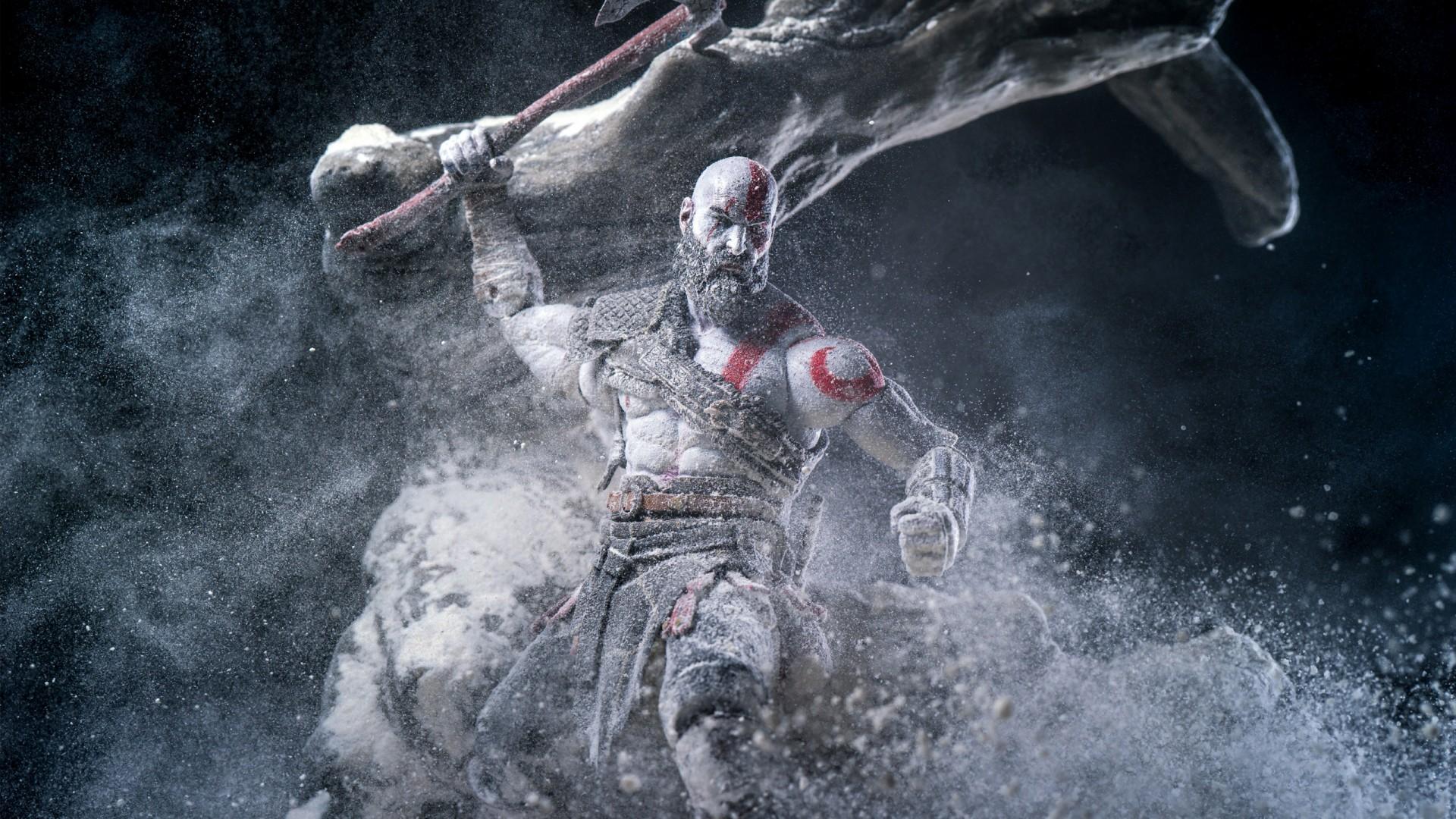 God Of War 4 Wallpaper Iphone X Kratos In God Of War 2018 Wallpapers Hd Wallpapers Id
