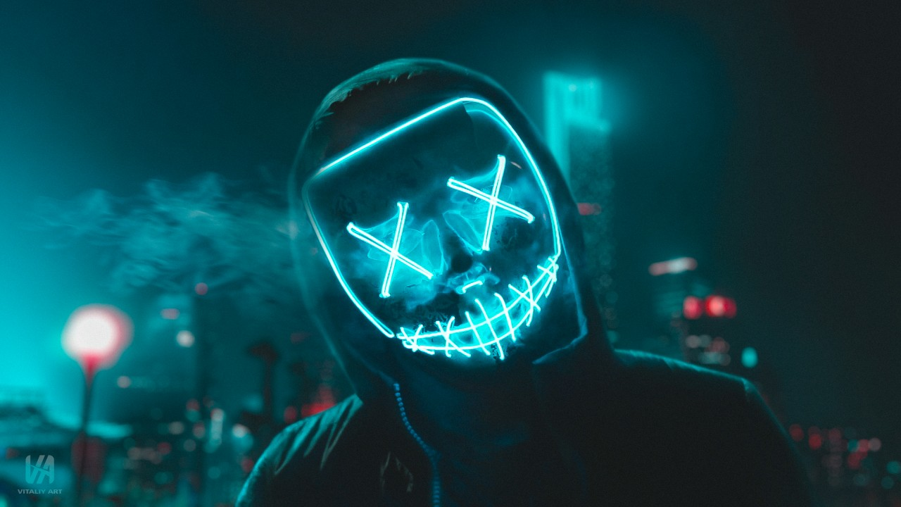 Iphone X Black Hd Abstract Wallpapers Led Mask 4k Wallpapers Hd