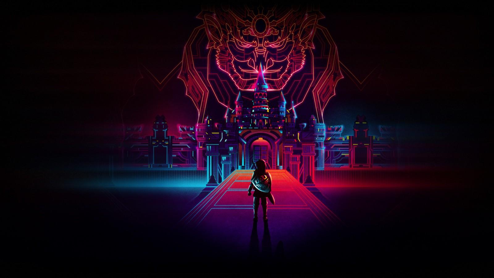 Superman 3d Wallpaper Download Legend Of Zelda Retro Neon Wallpapers Hd Wallpapers Id