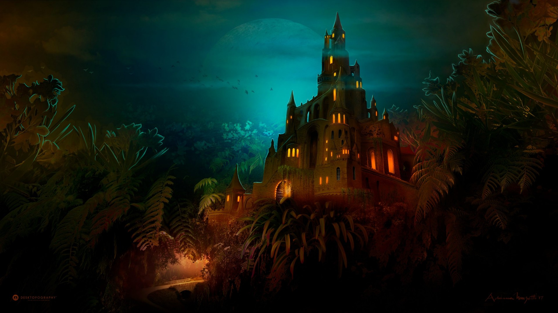Free Cute Wallpaper For Iphone 4 Lilliput Castle Dark Night Wallpapers Hd Wallpapers Id