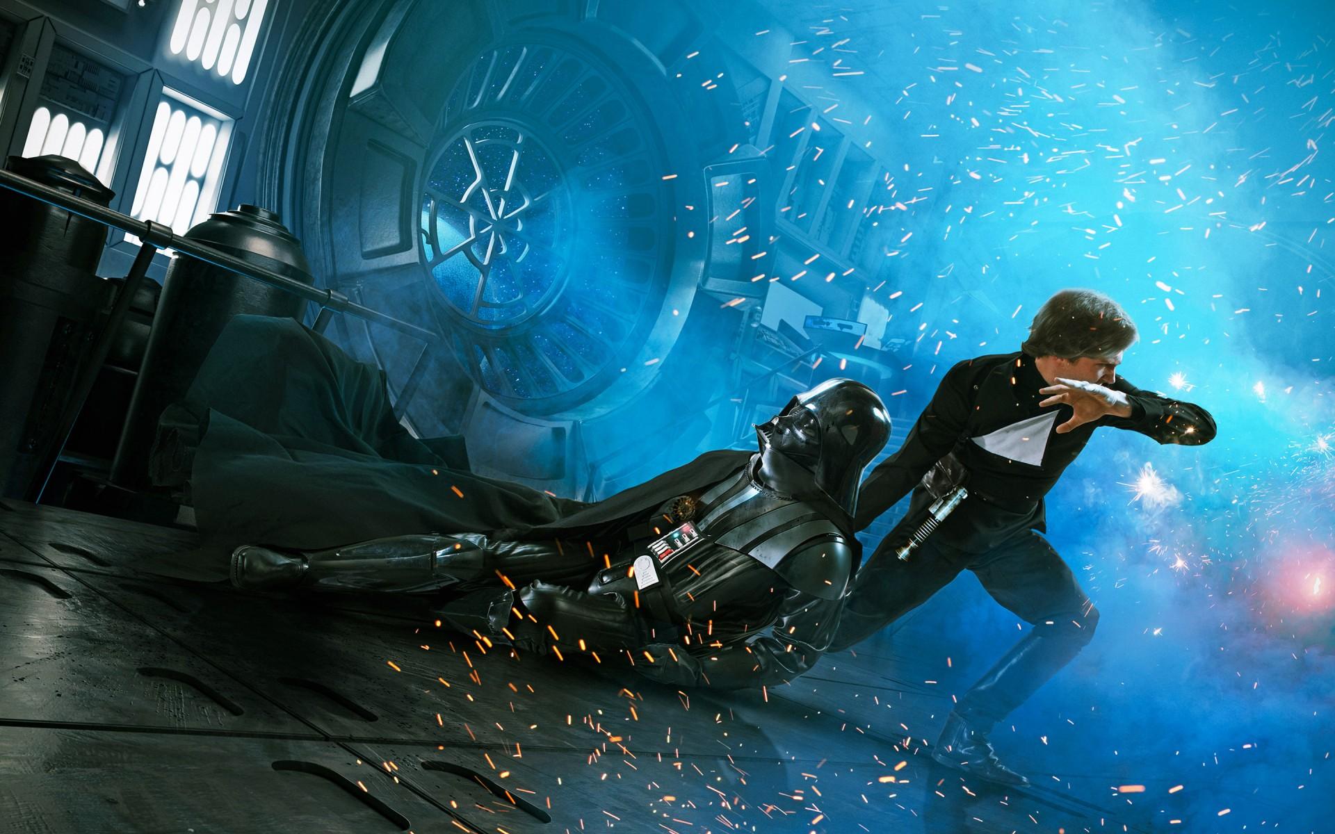 3d R Wallpaper Download Luke Skywalker Darth Vader Return Of The Jedi Wallpapers