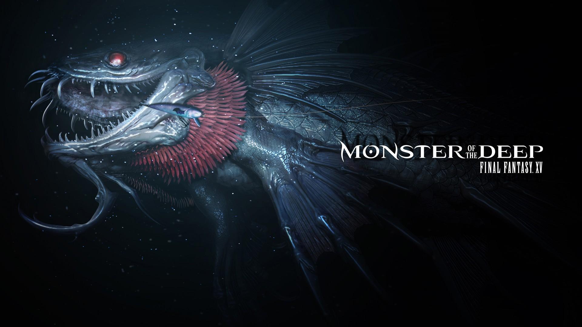 Final Fantasy Xv Wallpaper Iphone X Monster Of The Deep Final Fantasy Xv E3 2017 5k Wallpapers
