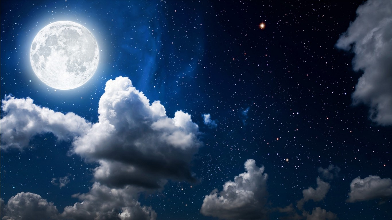 Cute Wallpapers For Girls In The Fall Moon Clouds Dark Sky Wallpapers Hd Wallpapers Id 18374