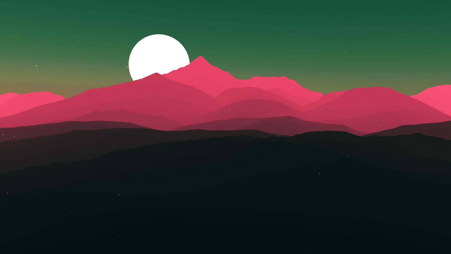 Minimalist Cute Desktop Wallpaper Moon Sun Minimal Artwork 4k Wallpapers Hd Wallpapers