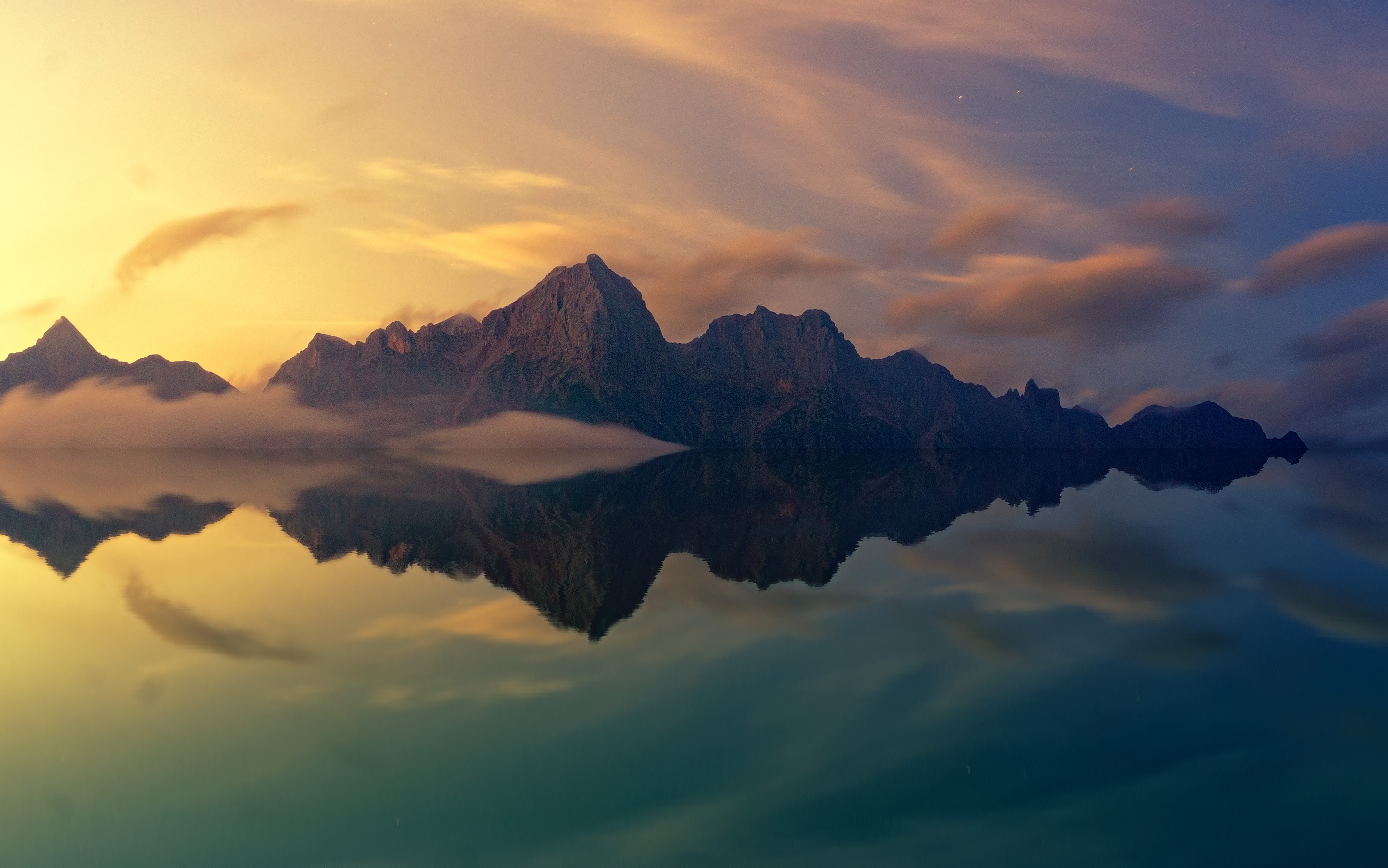 mountains reflections 4k wallpapers