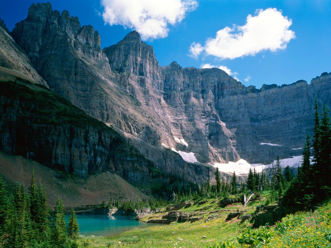Download Fall Wallpaper For Laptops Near Iceberg Lake Montana Wallpapers Hd Wallpapers Id