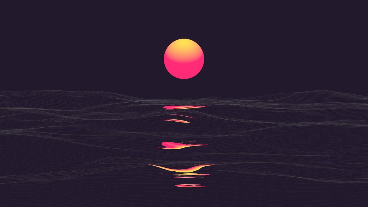 2560x1024 Hd Wallpaper Neon Dark Sunset Wallpapers Hd Wallpapers Id 27217