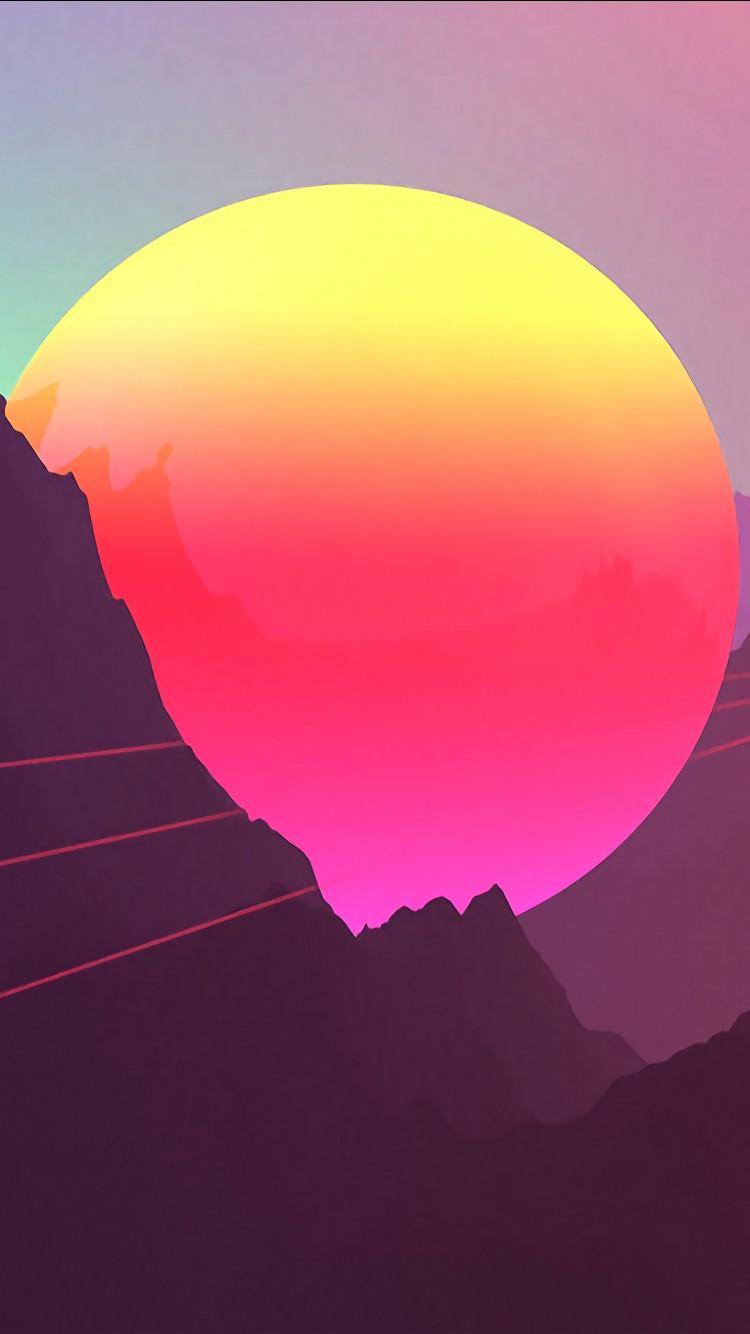Hd Wallpapers For Windows 7 Desktop Background Neon Sunset Mountains 4k Wallpapers Hd Wallpapers Id