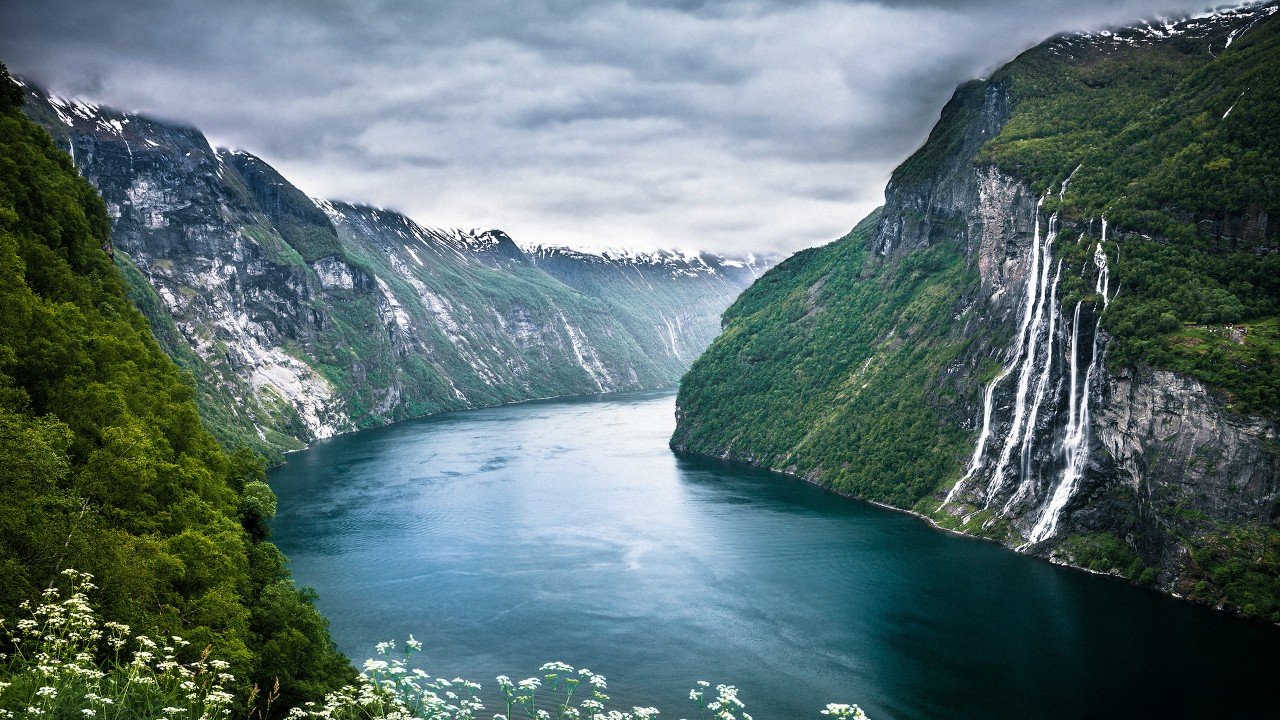 Free Widescreen Wallpaper Fall Norway Fjord Wallpapers Hd Wallpapers Id 12838