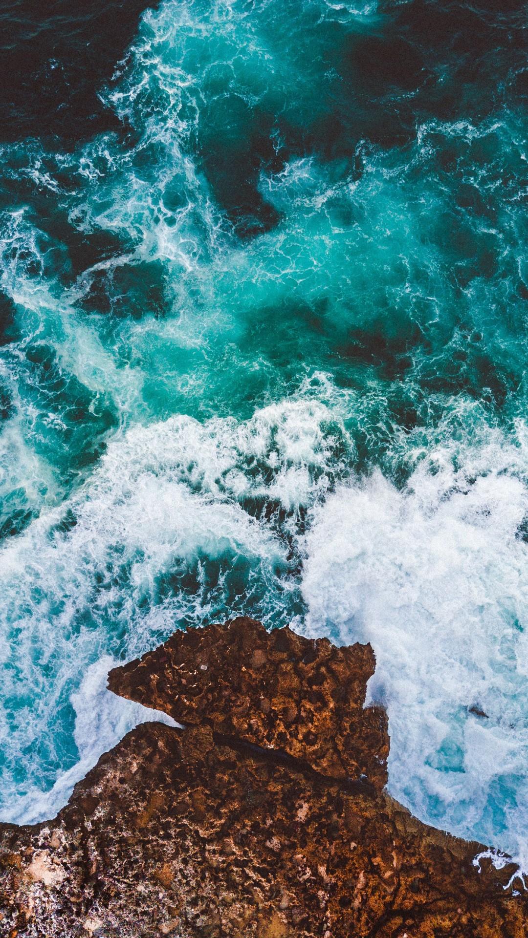 Falling Water Wallpaper Hd Ocean Cliff Drone View 4k Wallpapers Hd Wallpapers Id