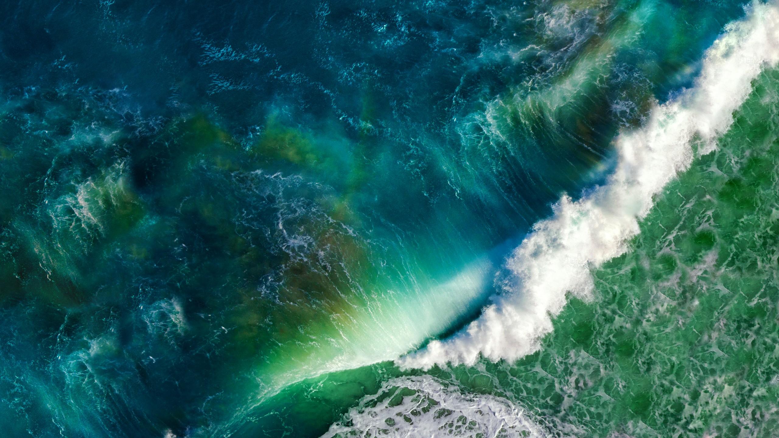 Falls Wallpaper Waterfall Ocean Waves Ios Stock 5k Wallpapers Hd Wallpapers Id