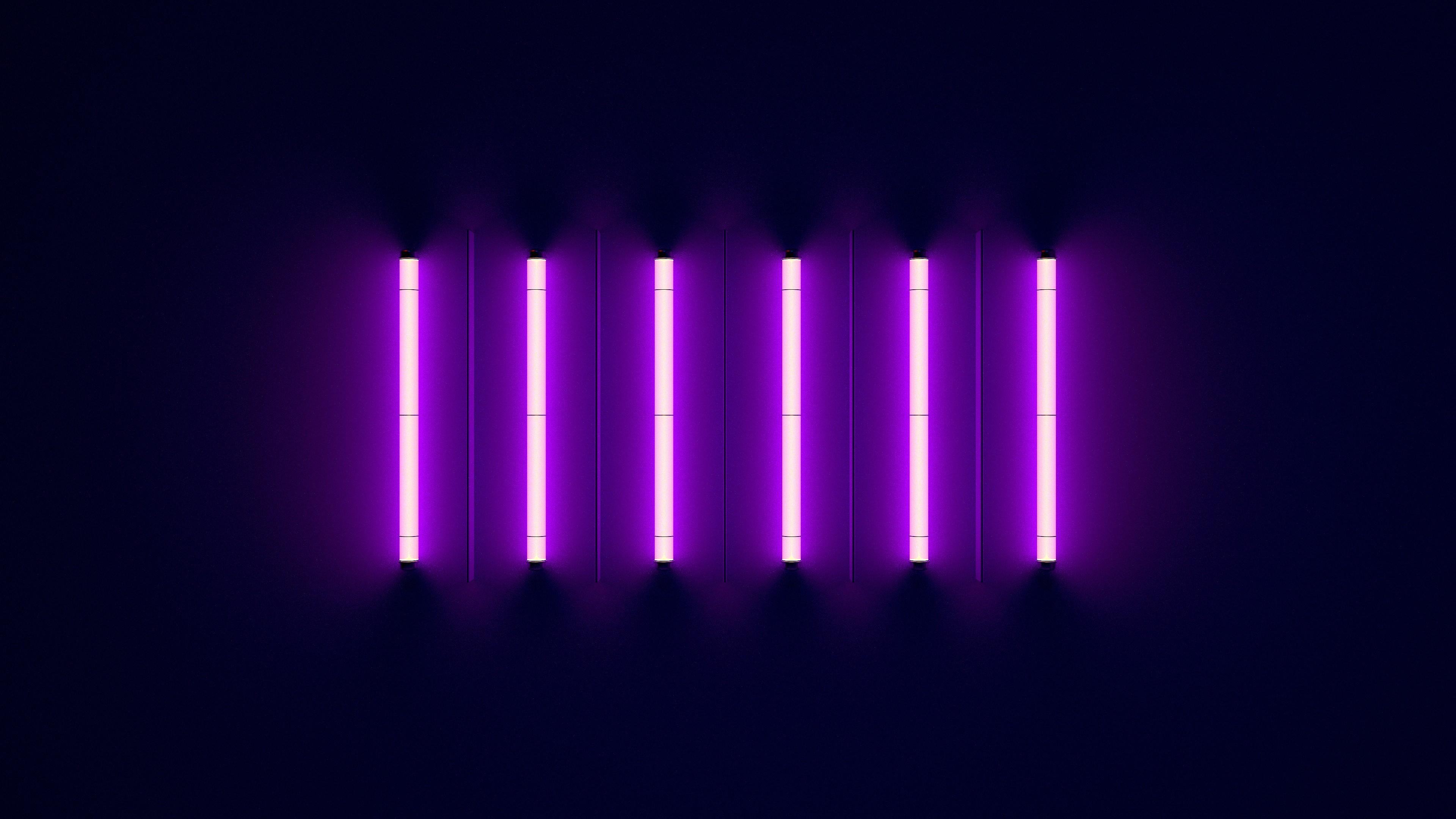 Windows Wallpaper Fall Purple Neon Lights 4k Wallpapers Hd Wallpapers Id 27611