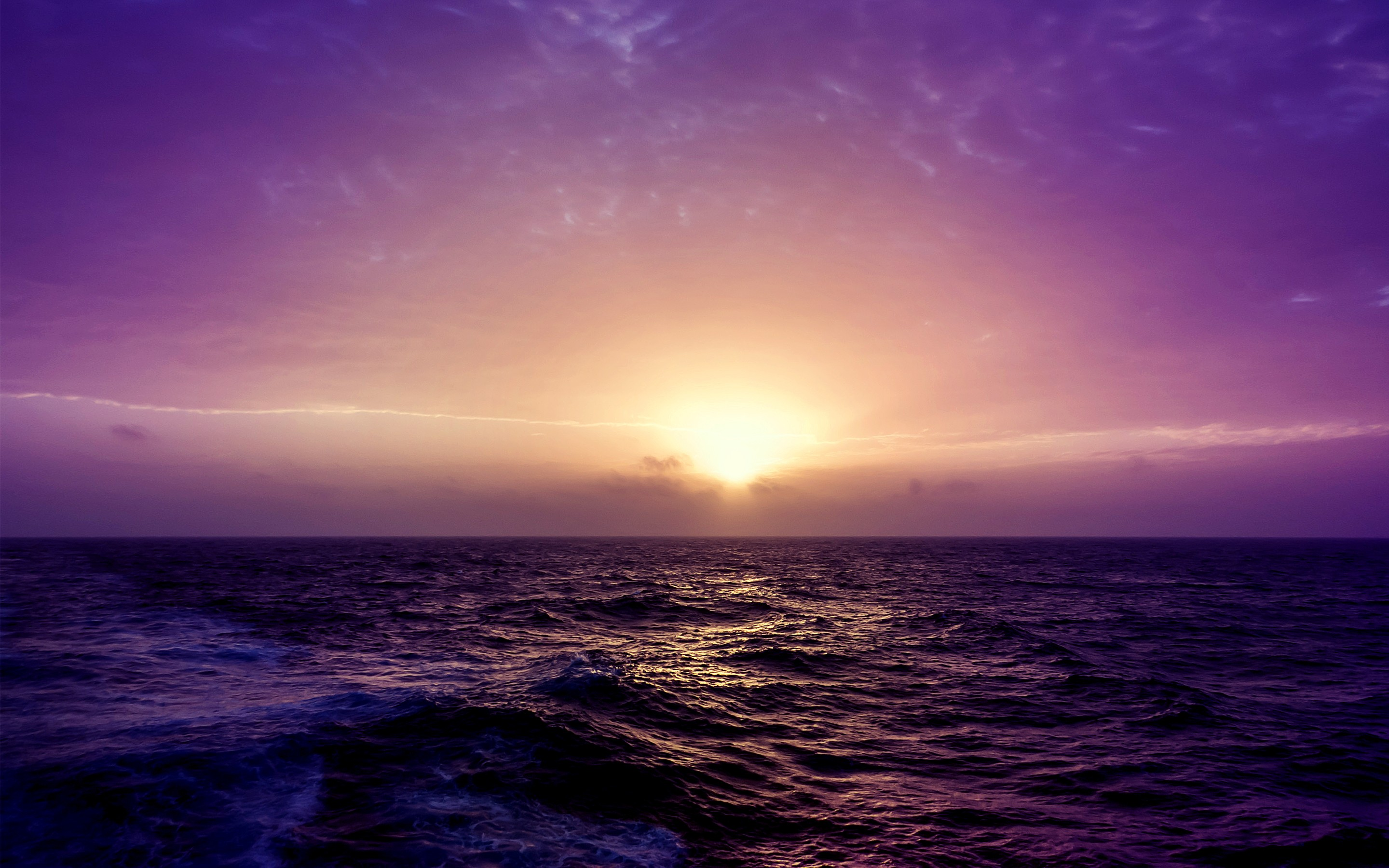Purple Sea Sunset Wallpapers  HD Wallpapers  ID 14809