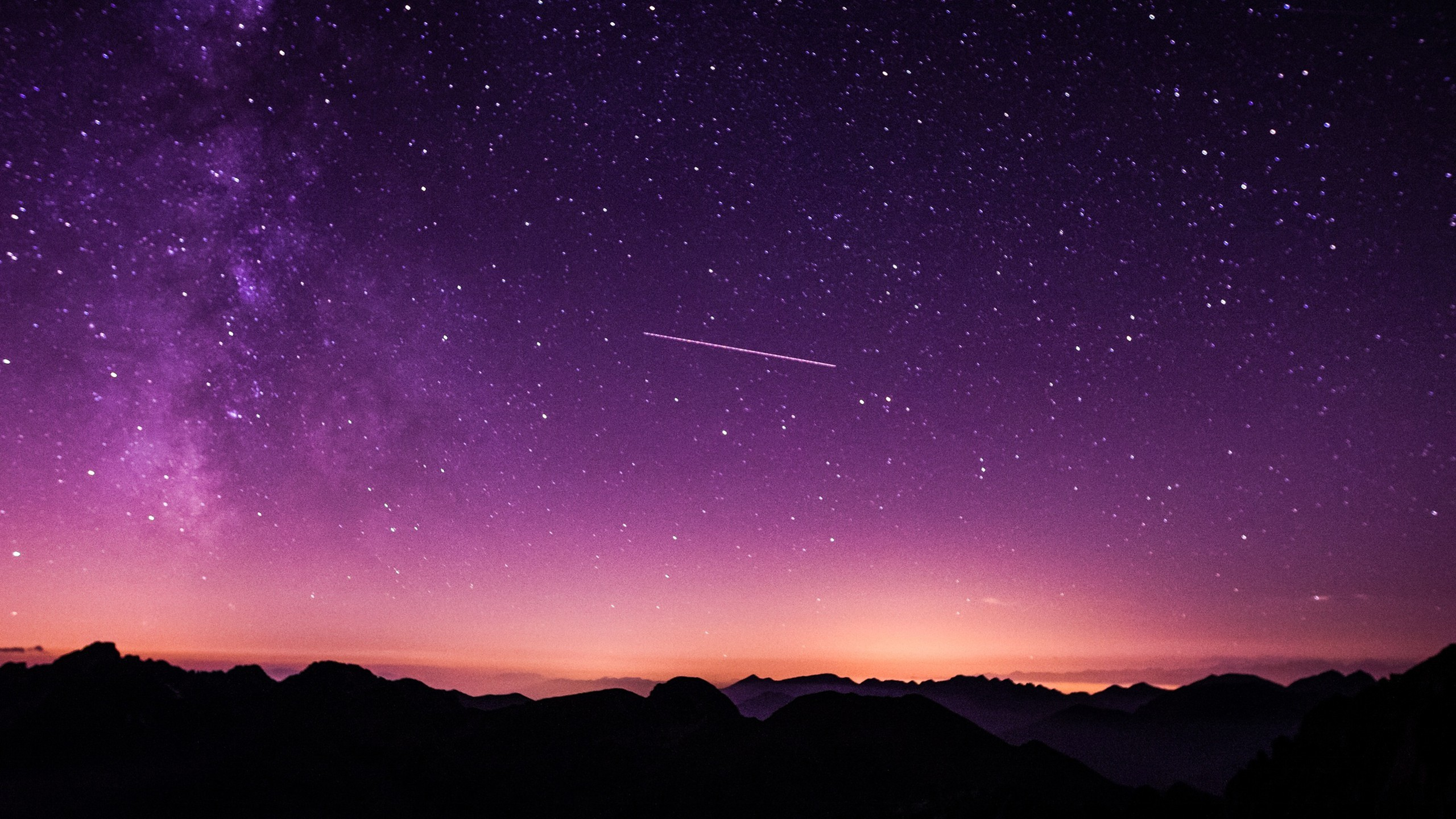 Iphone 5 Wallpaper Photography Purple Starry Sky Wallpapers Hd Wallpapers Id 25894