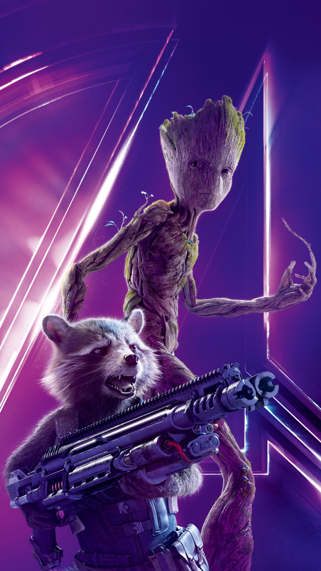 Groot Wallpaper Iphone X Rocket Raccoon In Avengers Infinity War 4k 8k Wallpapers