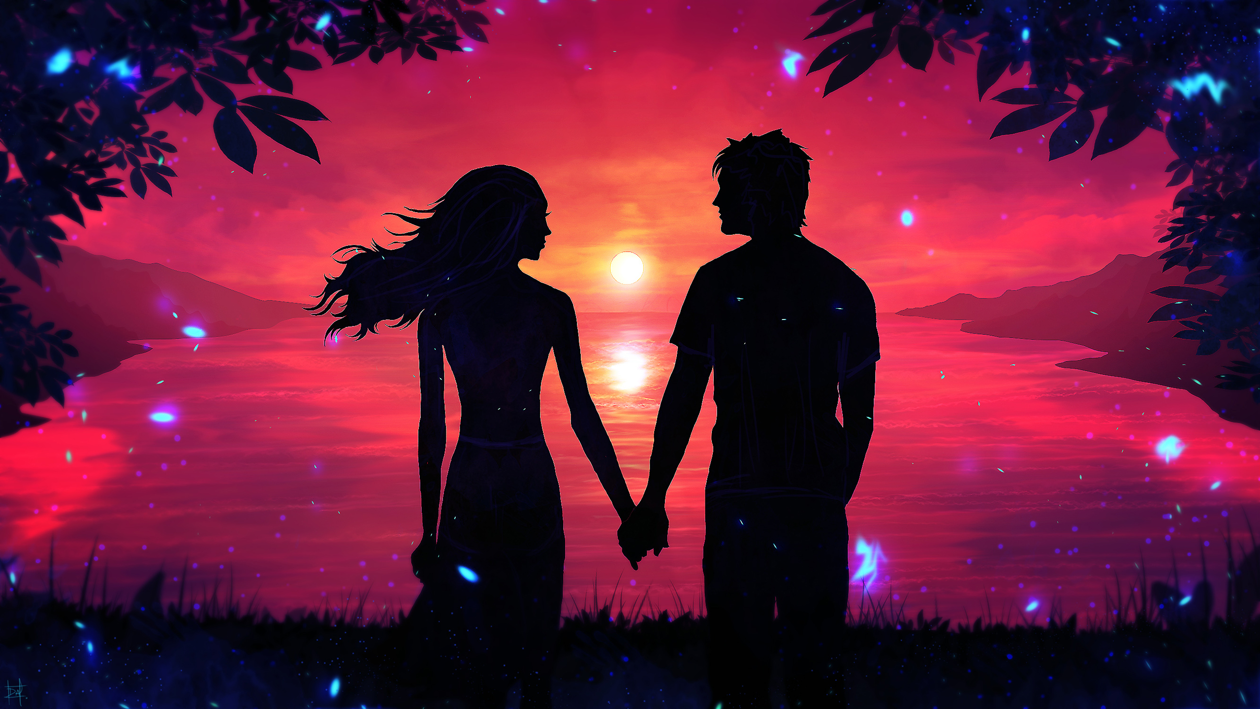 Beautiful Cute Couple Hd Wallpapers Romantic Couple Sunset Silhouette Wallpapers Hd