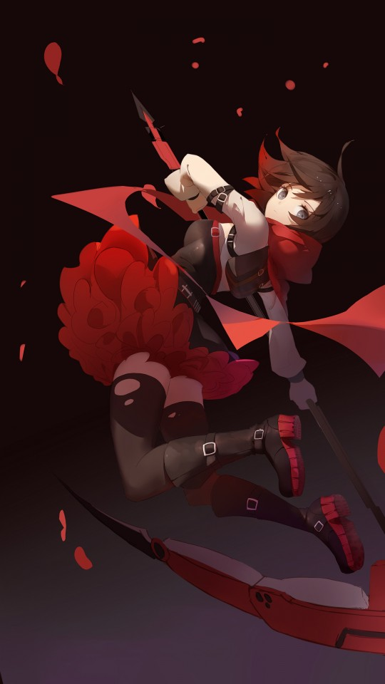 Iphone Wallpaper Hd Red Rwby Ruby Rose Wallpapers Hd Wallpapers Id 26013