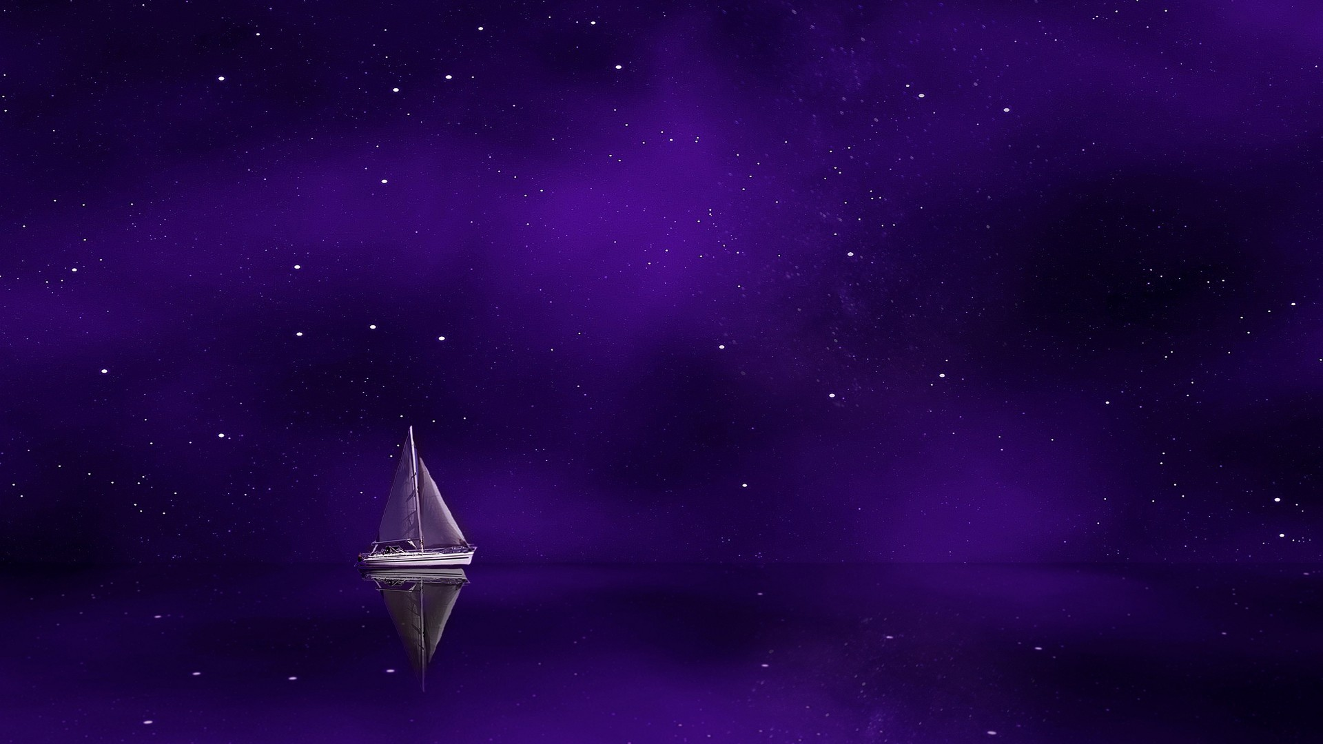 Fall Flowers Wallpaper Iphone Sailing Boat Purple Sky 4k Wallpapers Hd Wallpapers Id