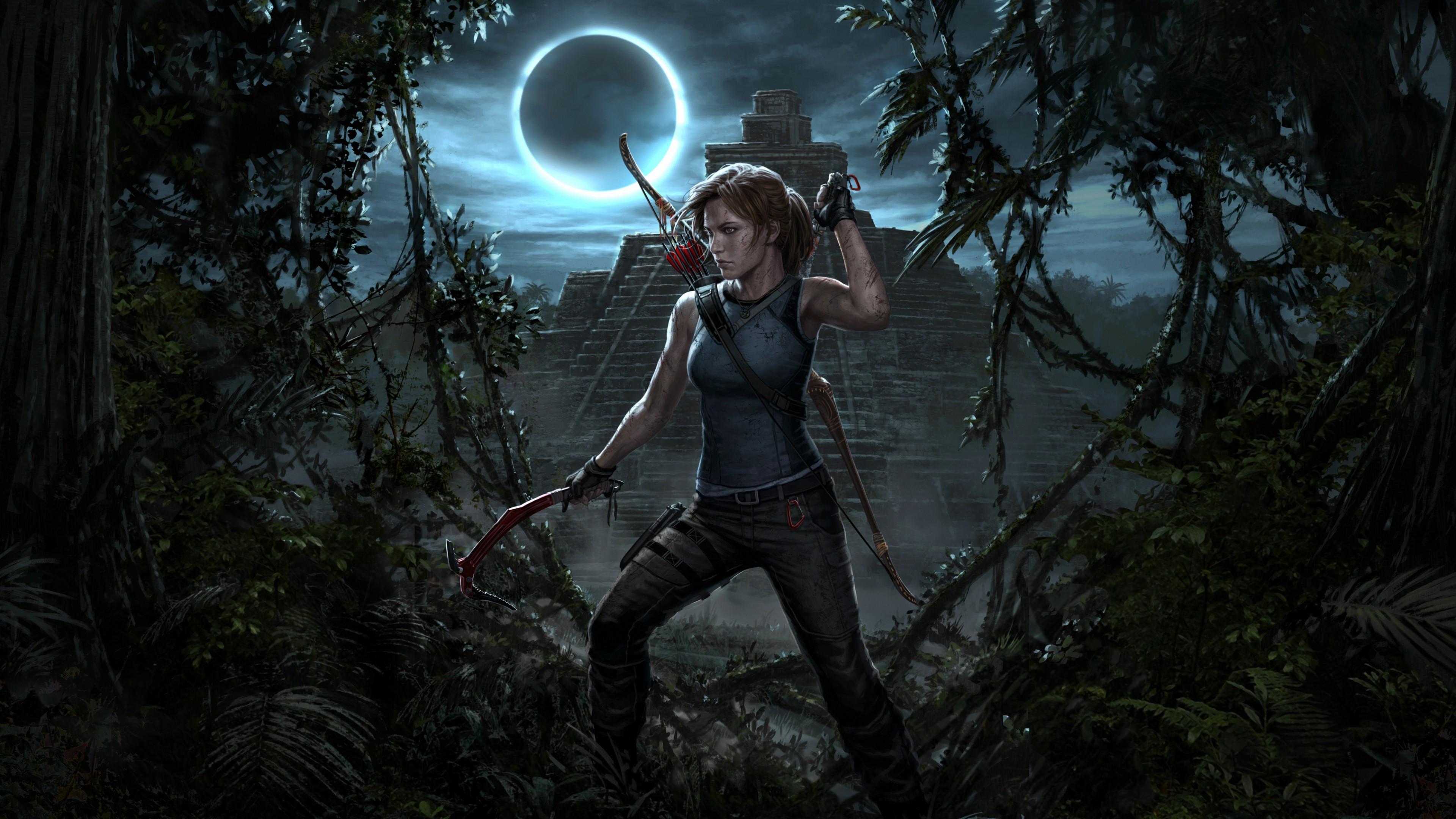 Tomb Raider Iphone X Wallpaper Shadow Of The Tomb Raider Lara Croft Wallpapers Hd