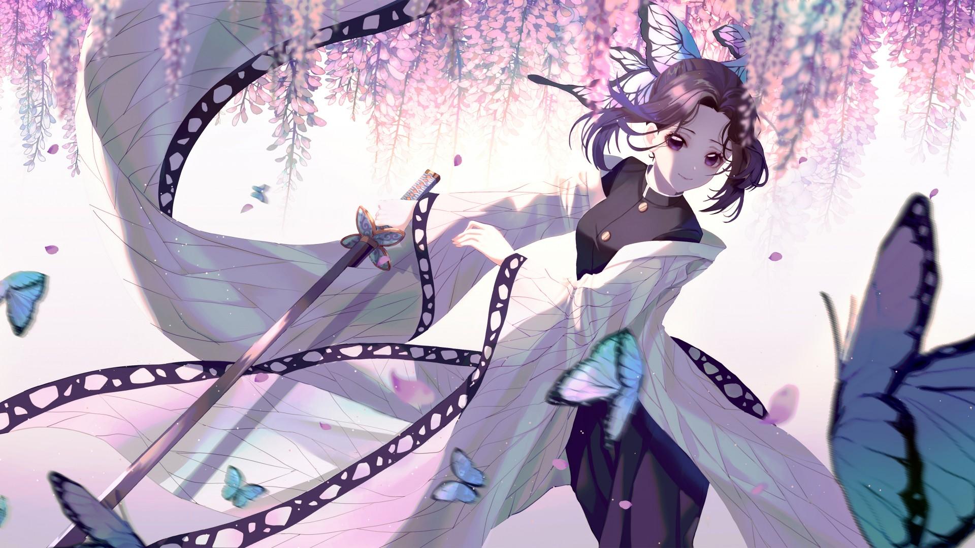 Cute Shinobu Wallpaper Shinobu Kochou Anime 4k Wallpapers Hd Wallpapers Id 30103