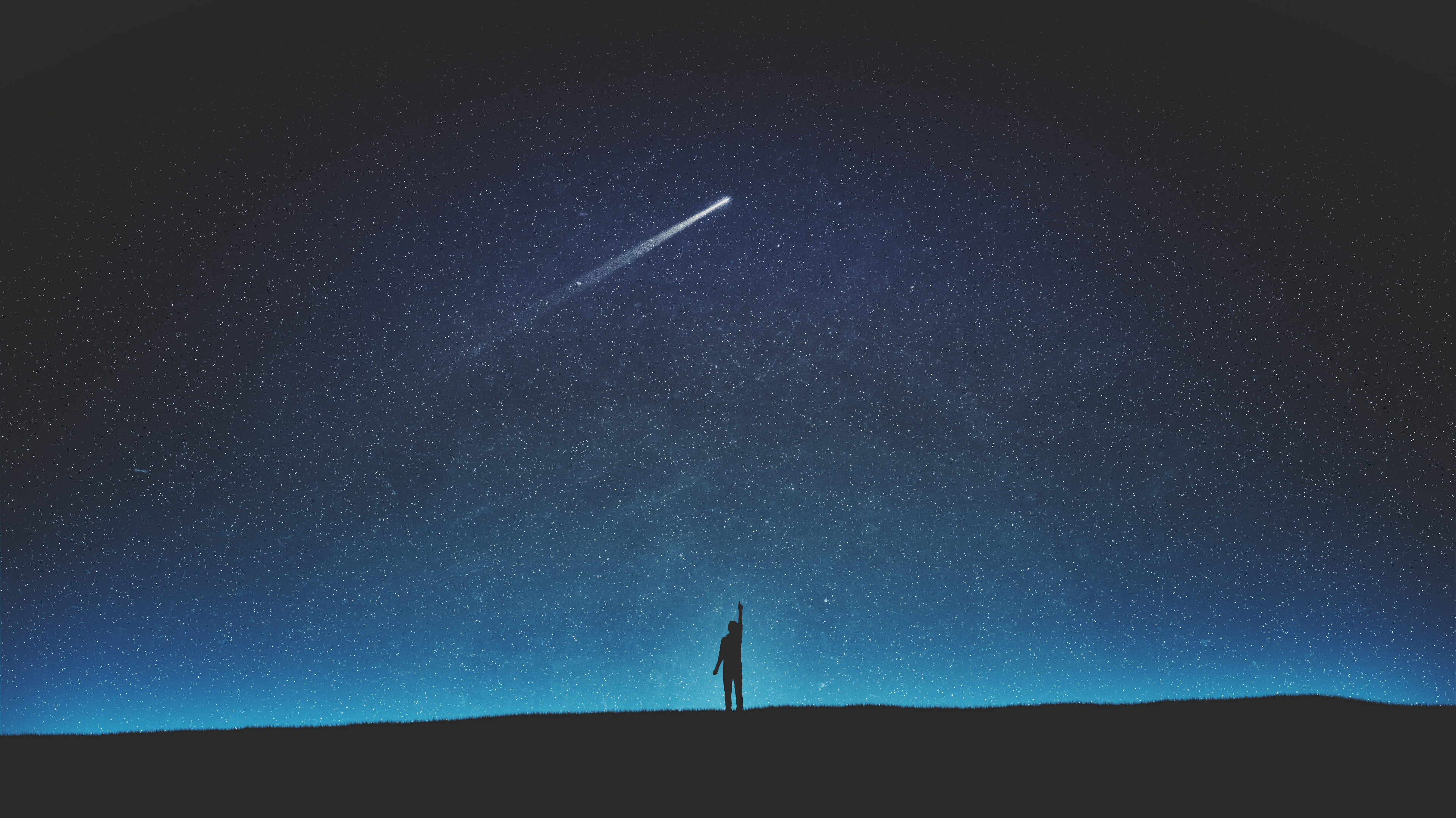 Falling From Stars Wallpaper Shooting Star Silhouette 4k Wallpapers Hd Wallpapers