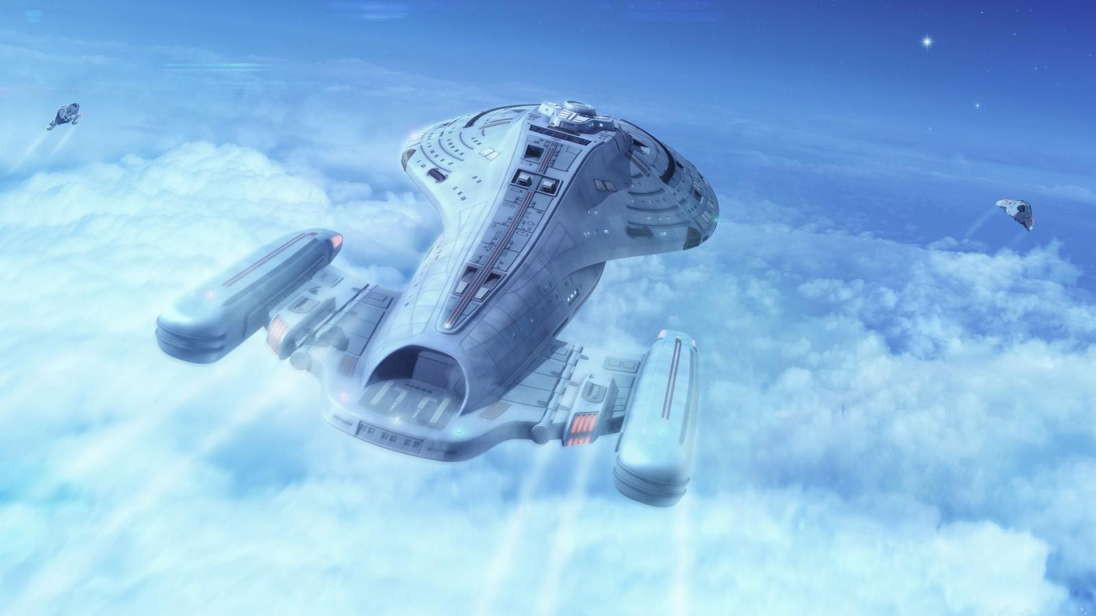 Top Class 3d Wallpapers Star Trek Voyager Spaceship 4k Wallpapers Hd Wallpapers