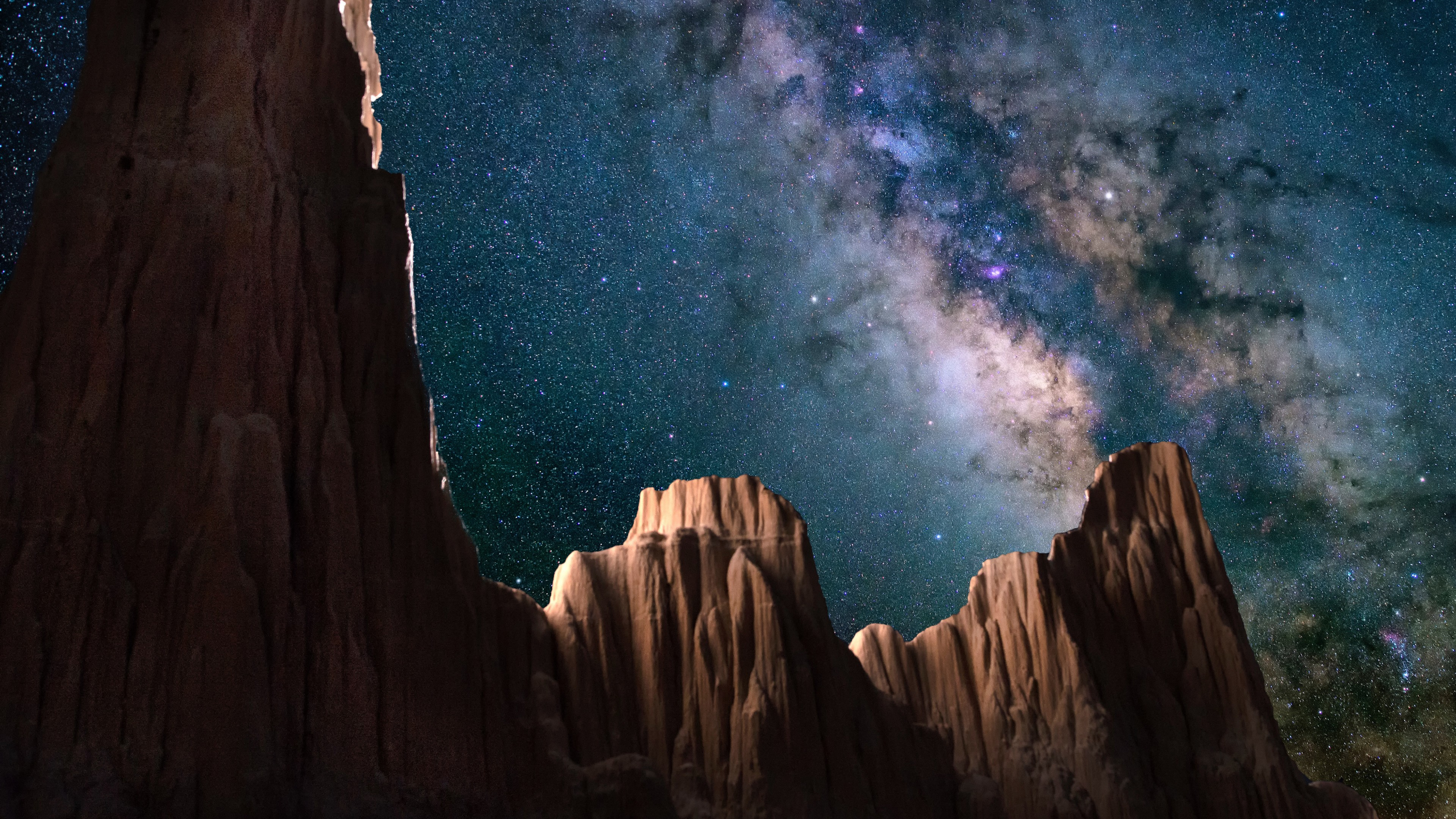 3d Wallpaper For Ipad Pro Starry Sky Cathedral Gorge State Park 4k Wallpapers Hd