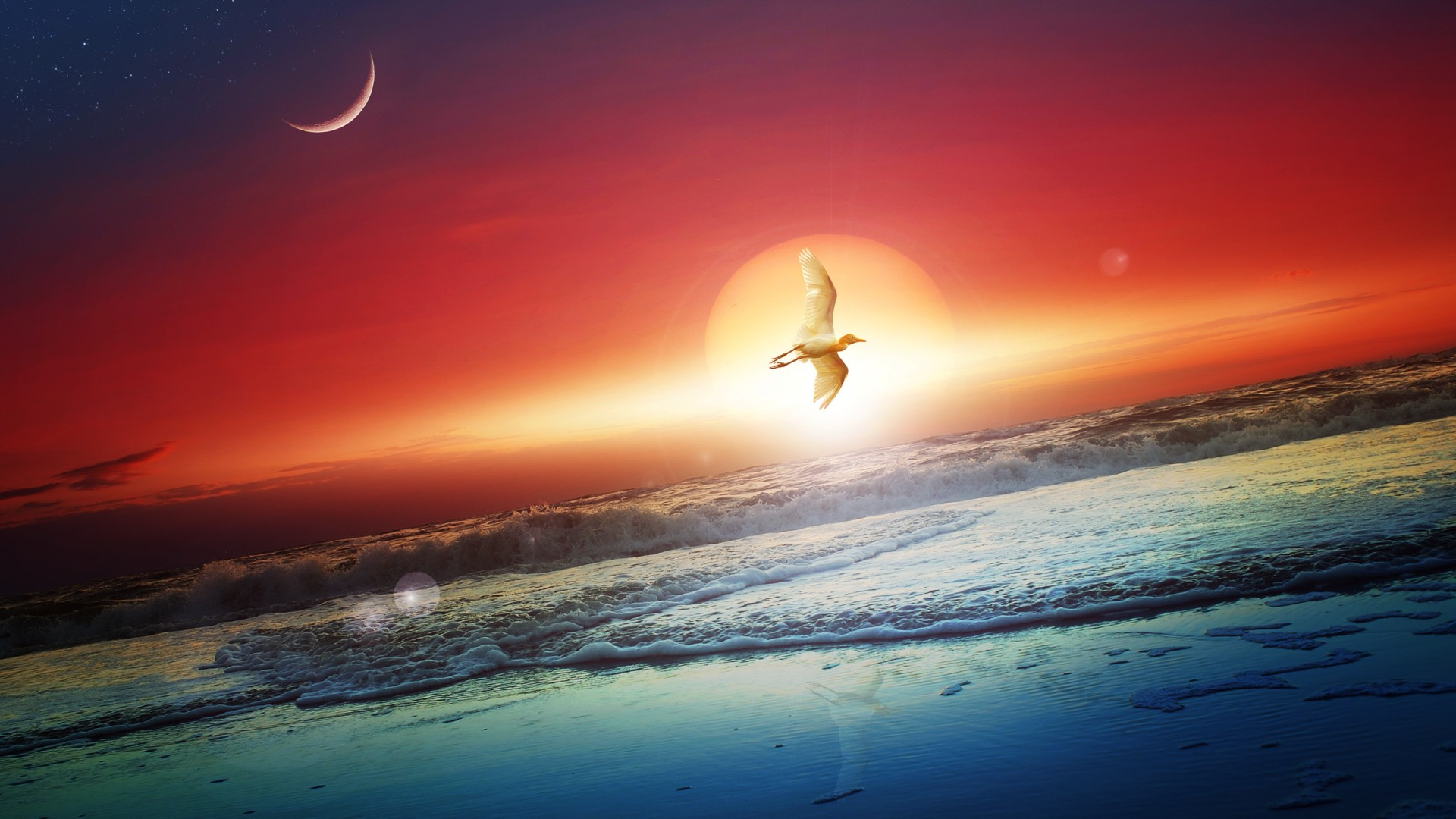 Free 3d Wallpapers For Pc Downloads Sun Moon Wallpapers Hd Wallpapers Id 14514