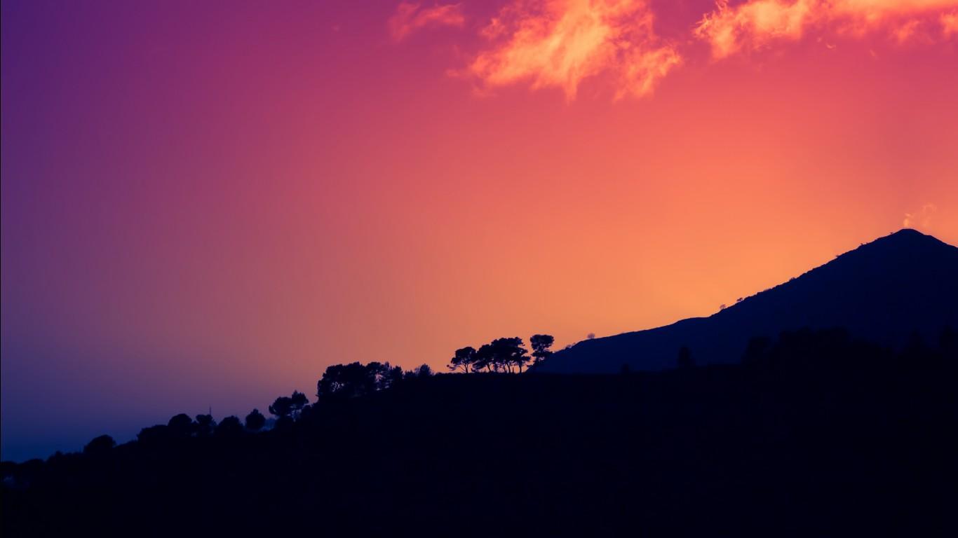 Iphone X Cherry Blossom Wallpaper Sunset Dark Mountains Italy Hd Wallpapers Hd Wallpapers