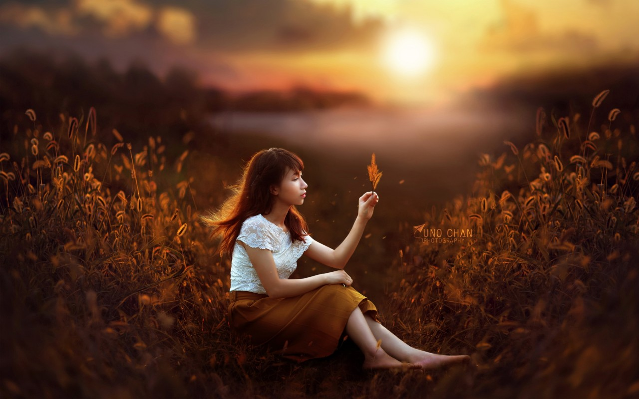 Cute Stylish Small Girl Wallpaper Sunset Girl Fantasy Wallpapers Hd Wallpapers Id 19489