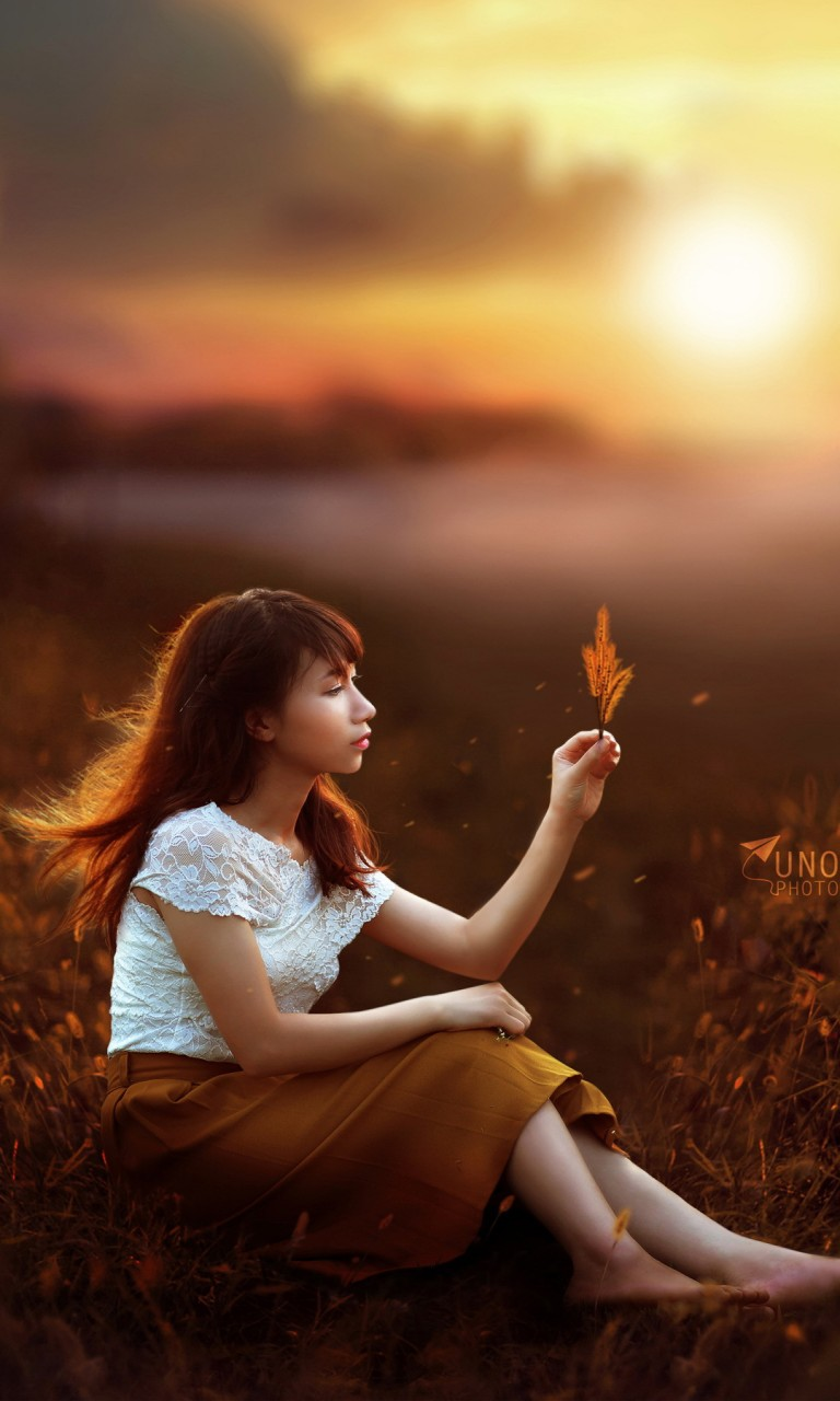 Cute Girl Hd Wallpaper For Android Sunset Girl Fantasy Wallpapers Hd Wallpapers Id 19489