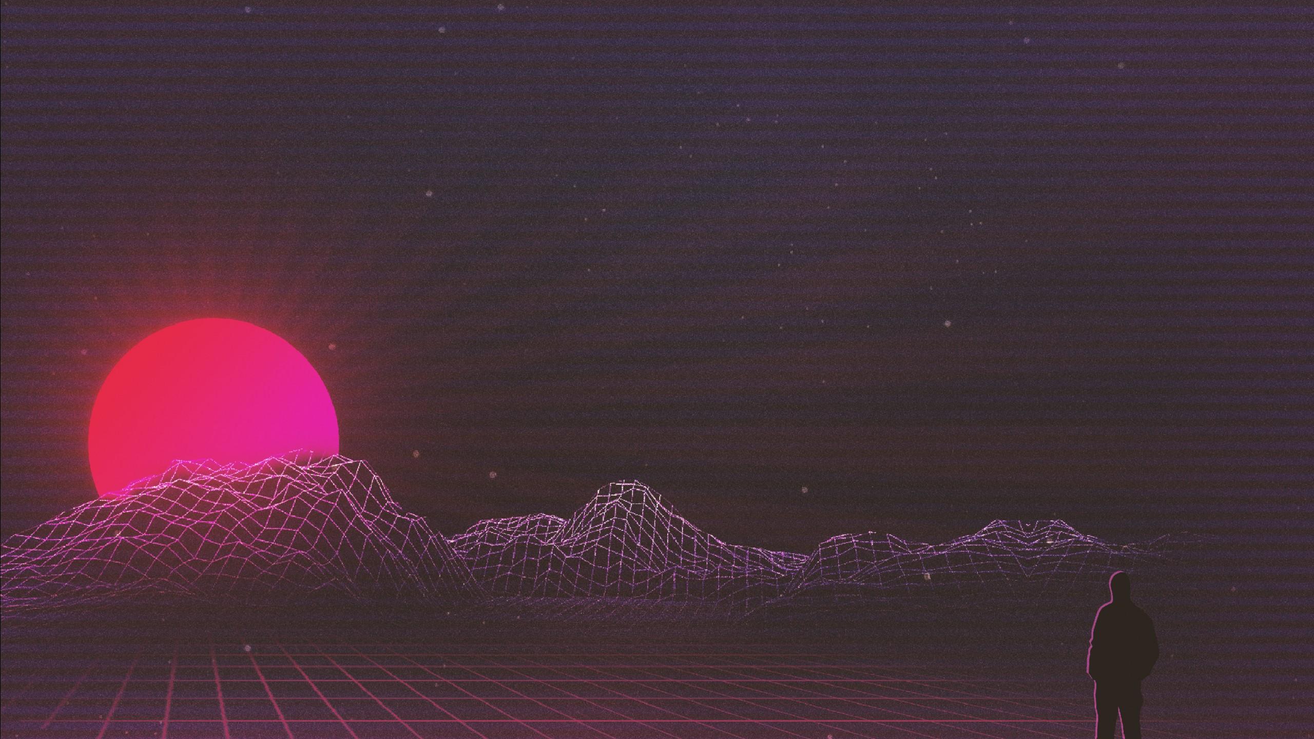 3d Neon Desktop Wallpapers Sunset Retrowave Art Wallpapers Hd Wallpapers Id 26046