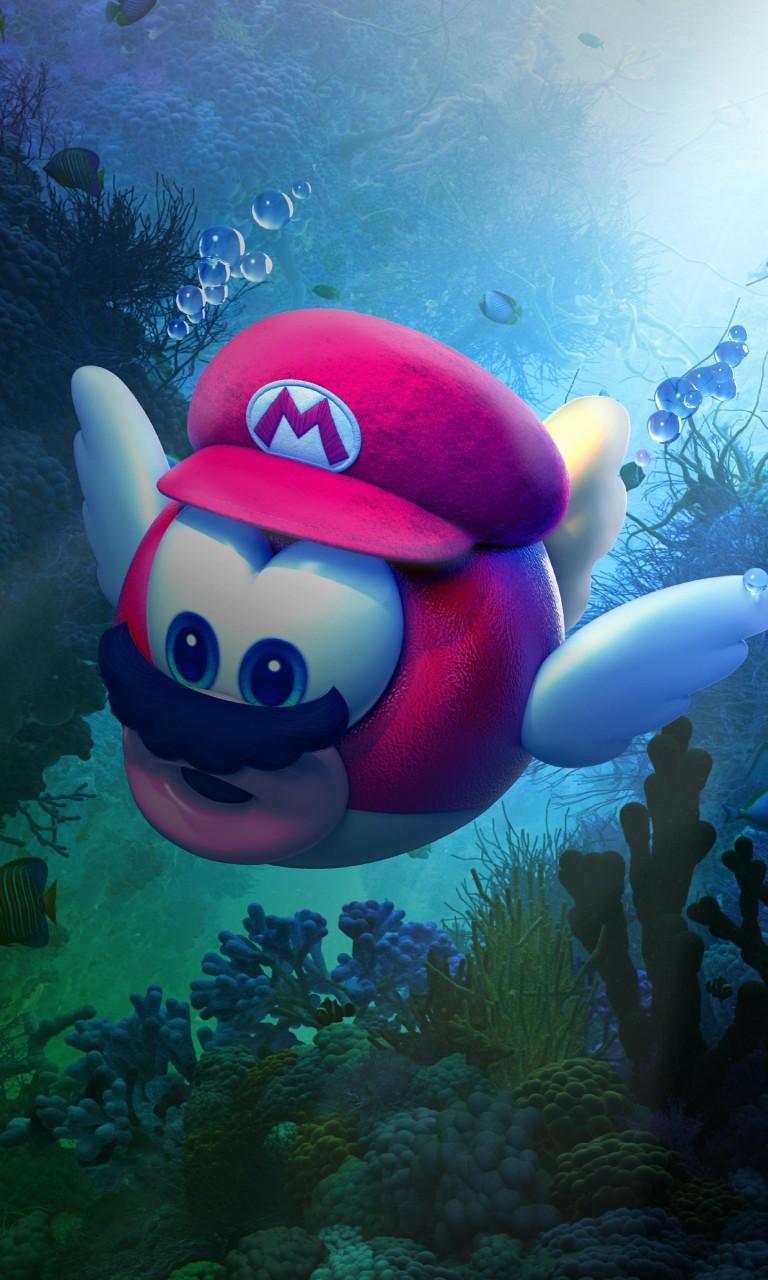 Apple Iphone 5s Wallpaper Hd Download Super Mario Odyssey Underwater 4k Wallpapers Hd