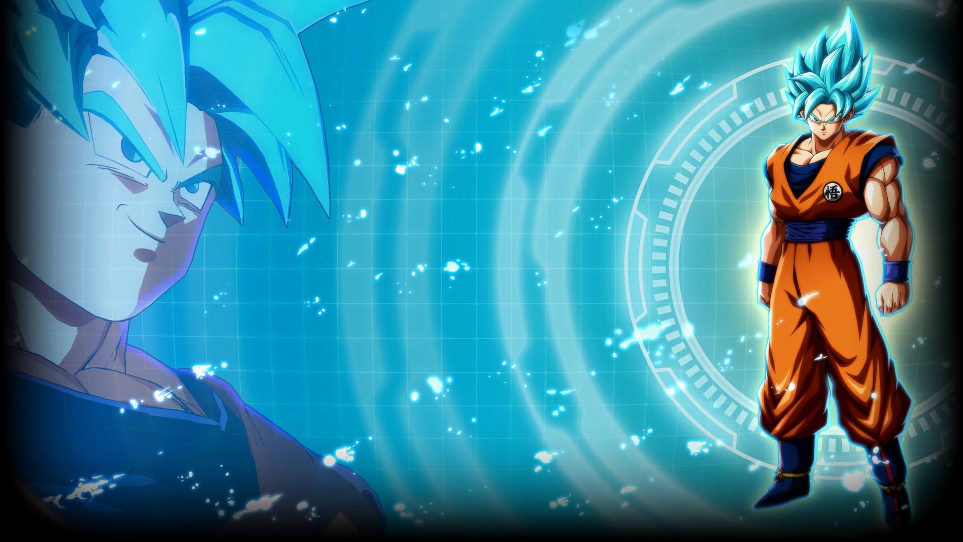 God Live Wallpaper Hd Super Saiyan Blue Goku Dragon Ball Fighterz Wallpapers