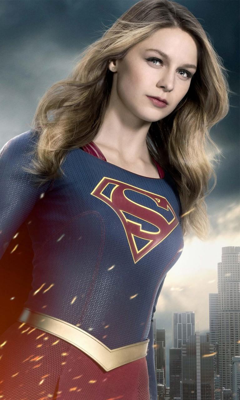 Iphone X Wallpaper Super Retina Supergirl Melissa Benoist Season 2 Wallpapers Hd