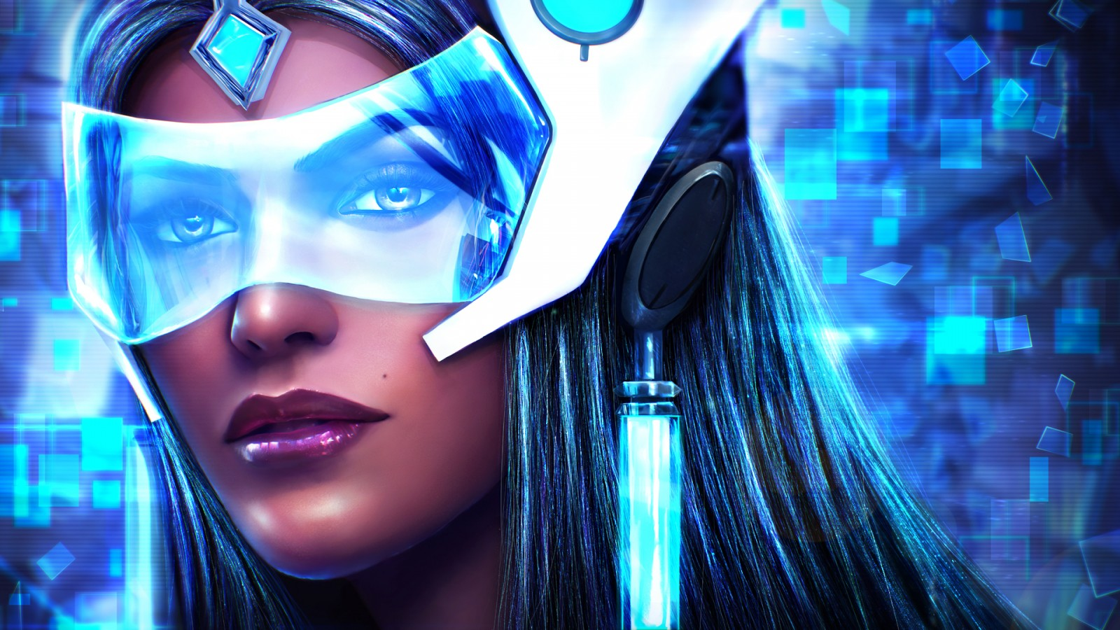 Space Iphone 6 Wallpaper Symmetra In Overwatch Artwork Wallpapers Hd Wallpapers
