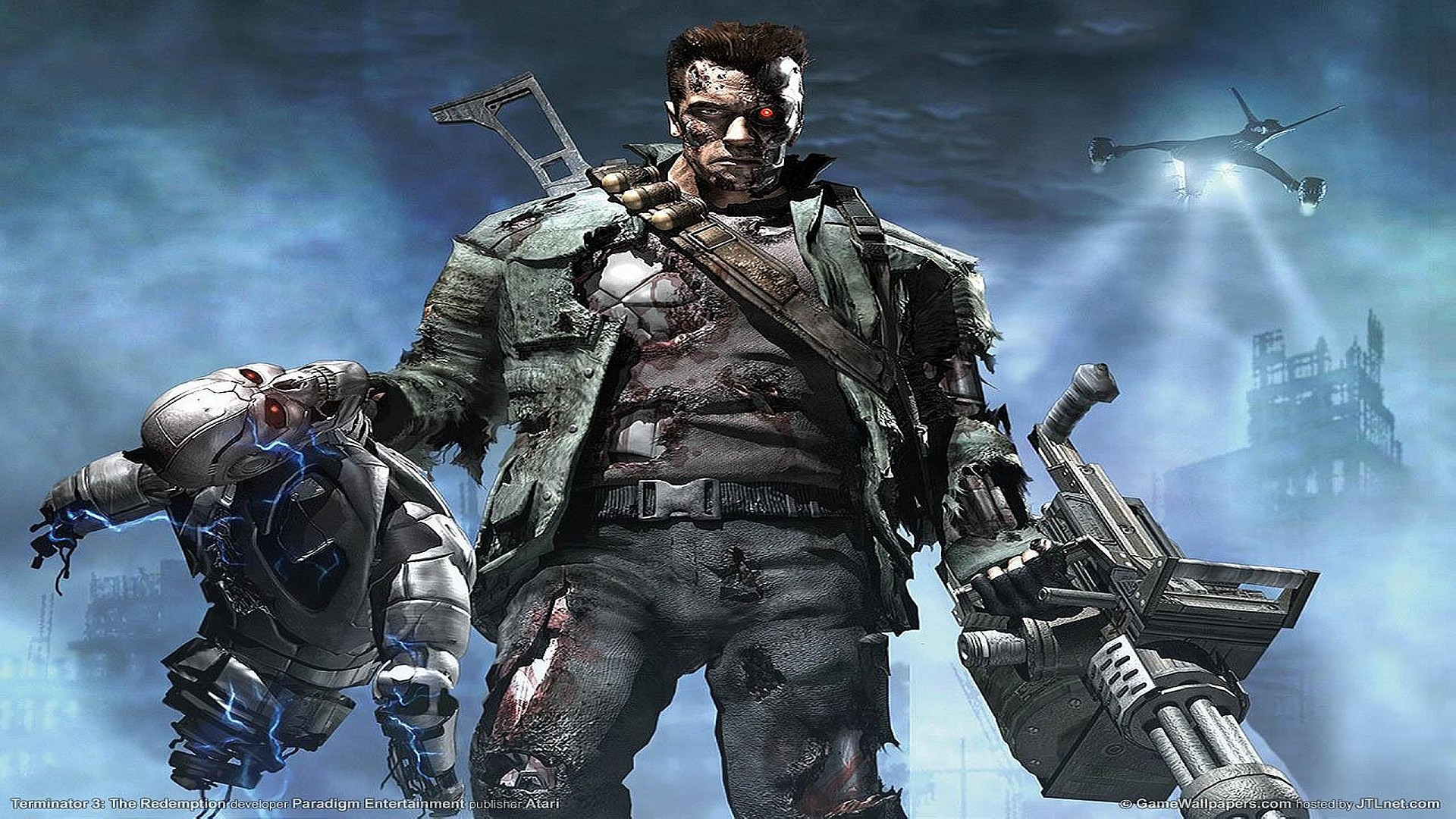 Iphone 4 3d Wallpaper Ios 7 Terminator Console Game Wallpapers Hd Wallpapers Id 1595