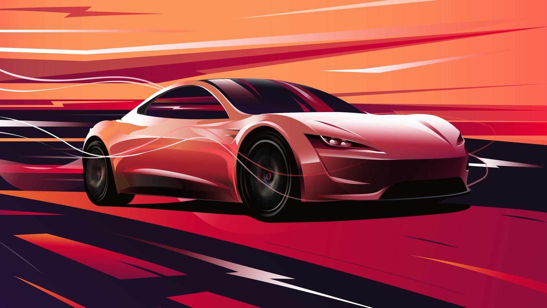 3d Graphic Wallpaper Hd Tesla Roadster 2020 4k 8k Wallpapers Hd Wallpapers Id