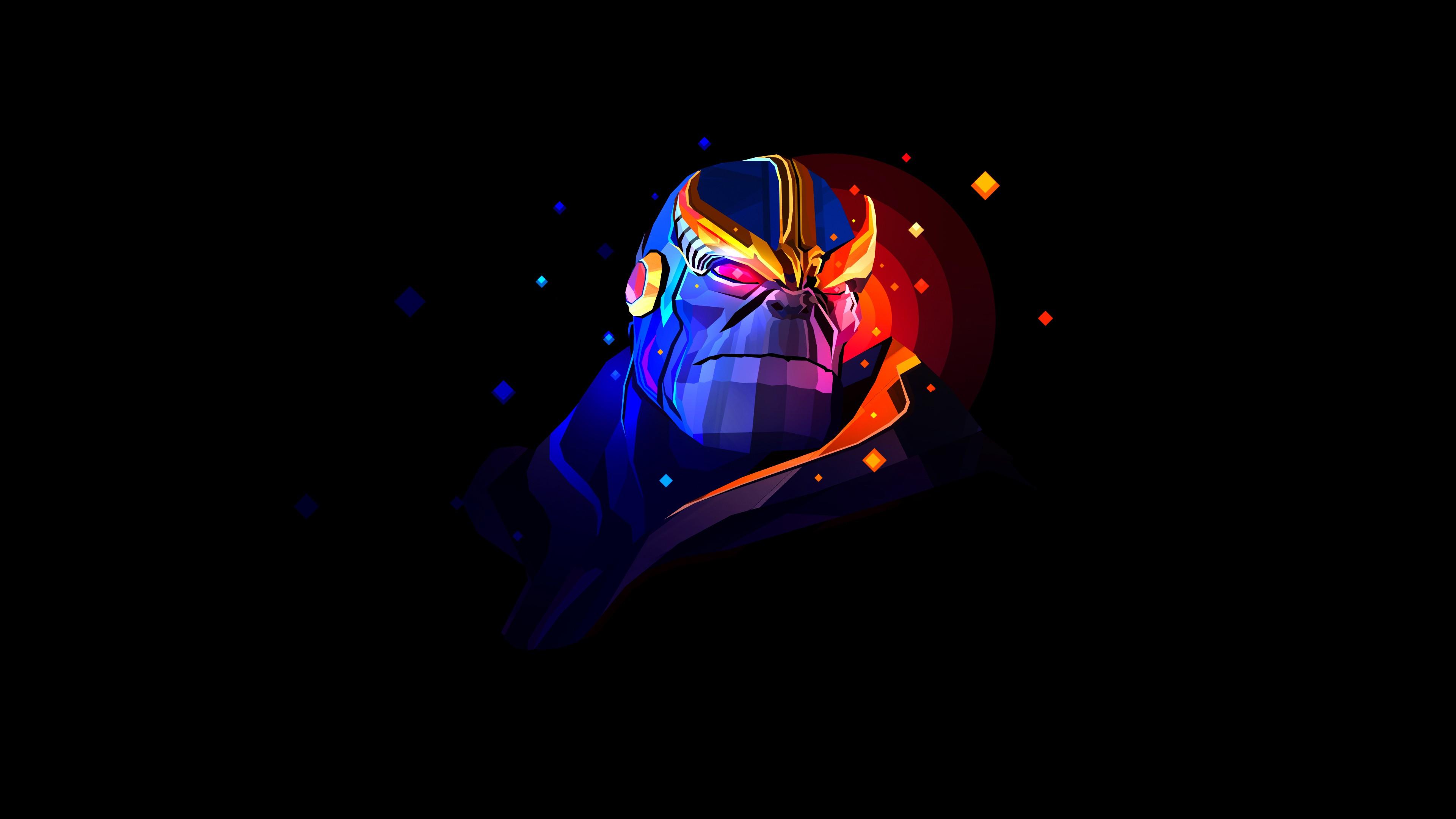 Thanos Wallpaper Iphone X Thanos Minimal Artwork 4k Wallpapers Hd Wallpapers Id