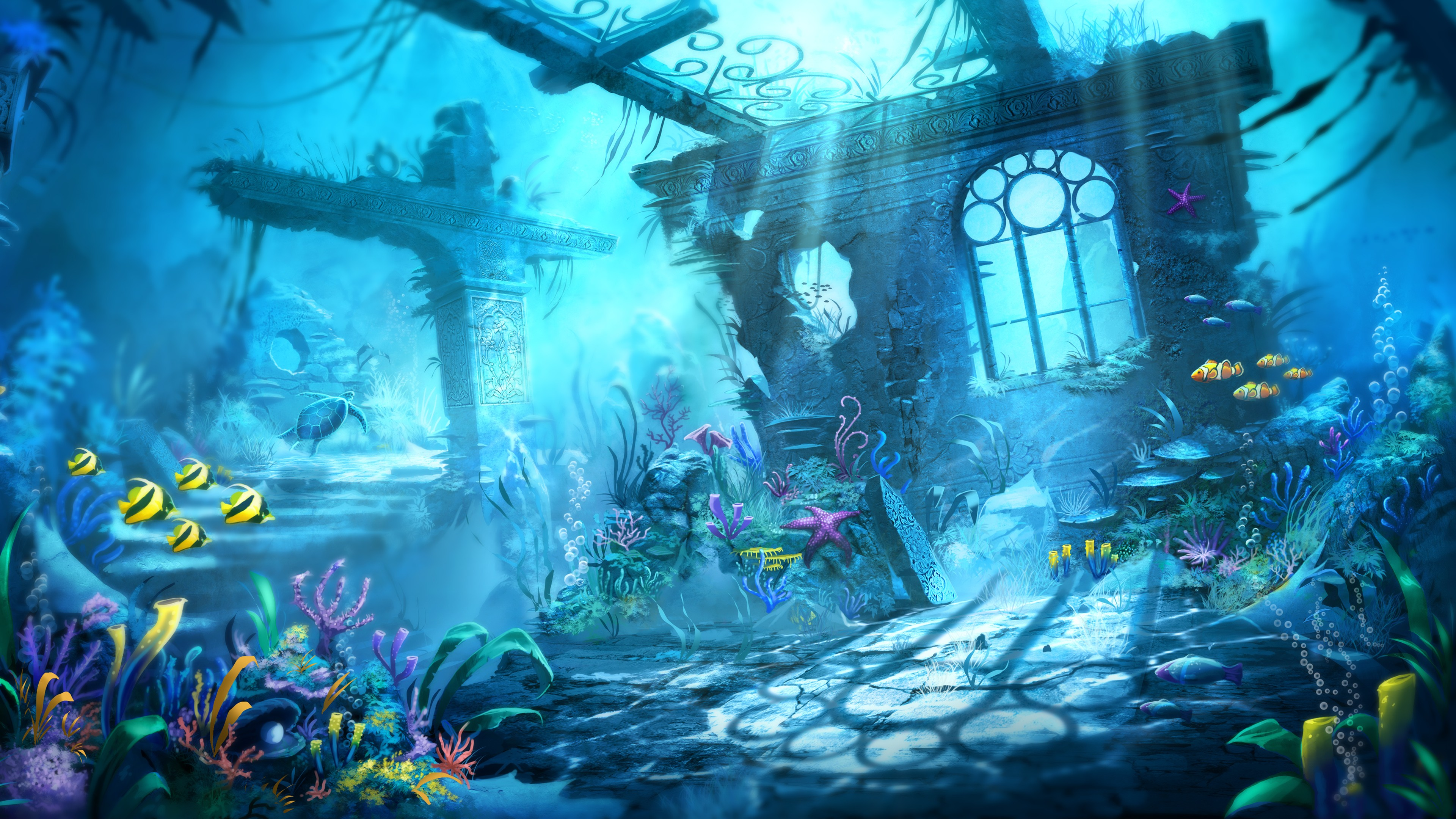 Gravity Falls Landscapes Wallpaper Trine Underwater Scene Wallpapers Hd Wallpapers Id 13876