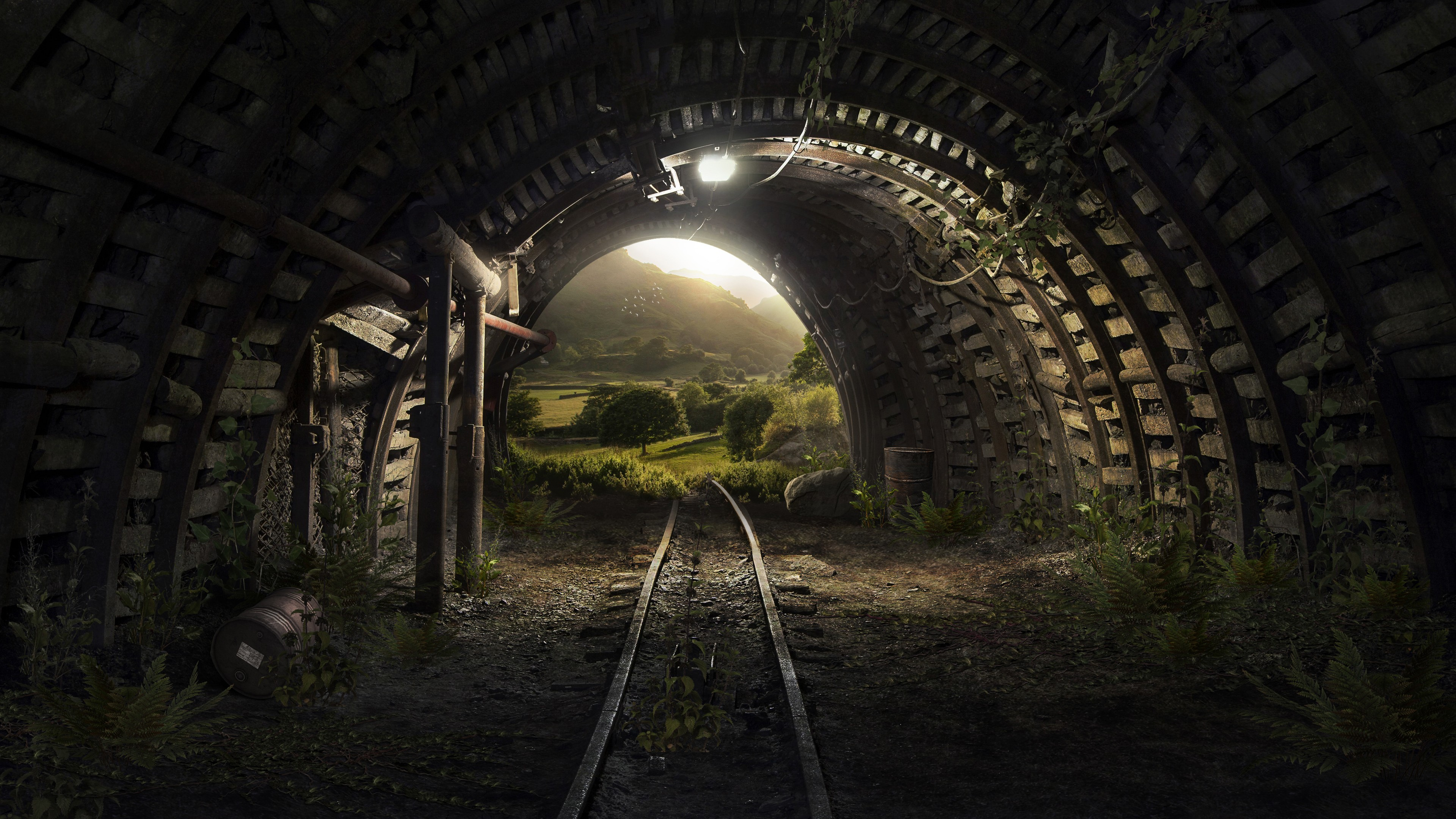 High Contrast Wallpaper For Iphone X Tunnel Tracks 4k Wallpapers Hd Wallpapers Id 22596
