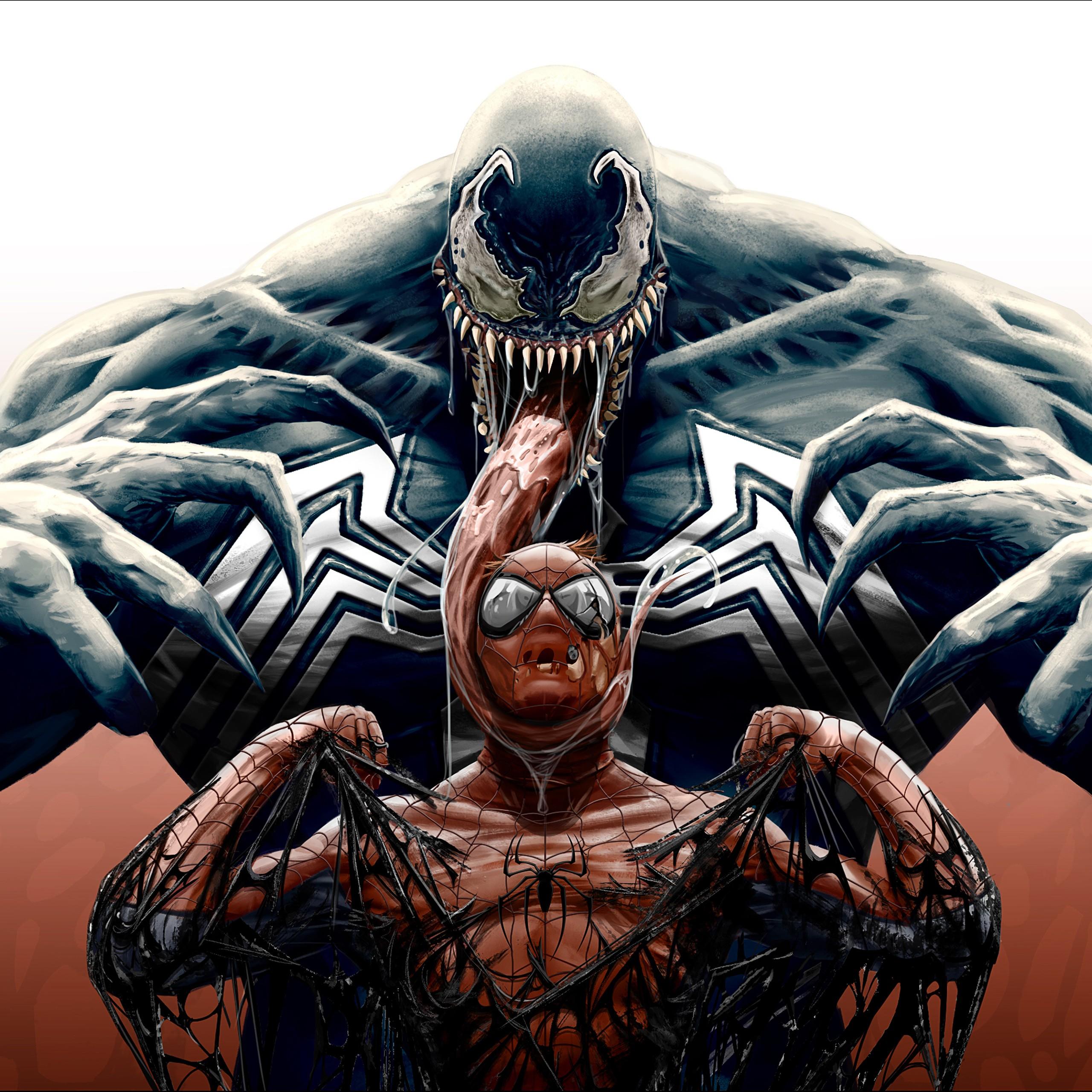 Spiderman Hd Wallpaper Venom Vs Spider Man Artwork 4k Wallpapers Hd Wallpapers