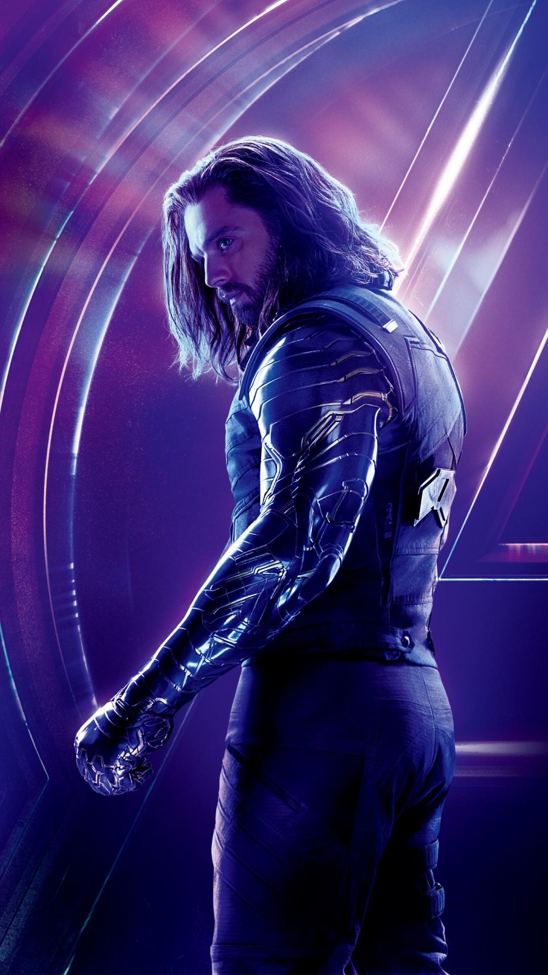 4k Ultra Hd Wallpapers White Wolf In Avengers Infinity War Sebastian Stan 4k 8k