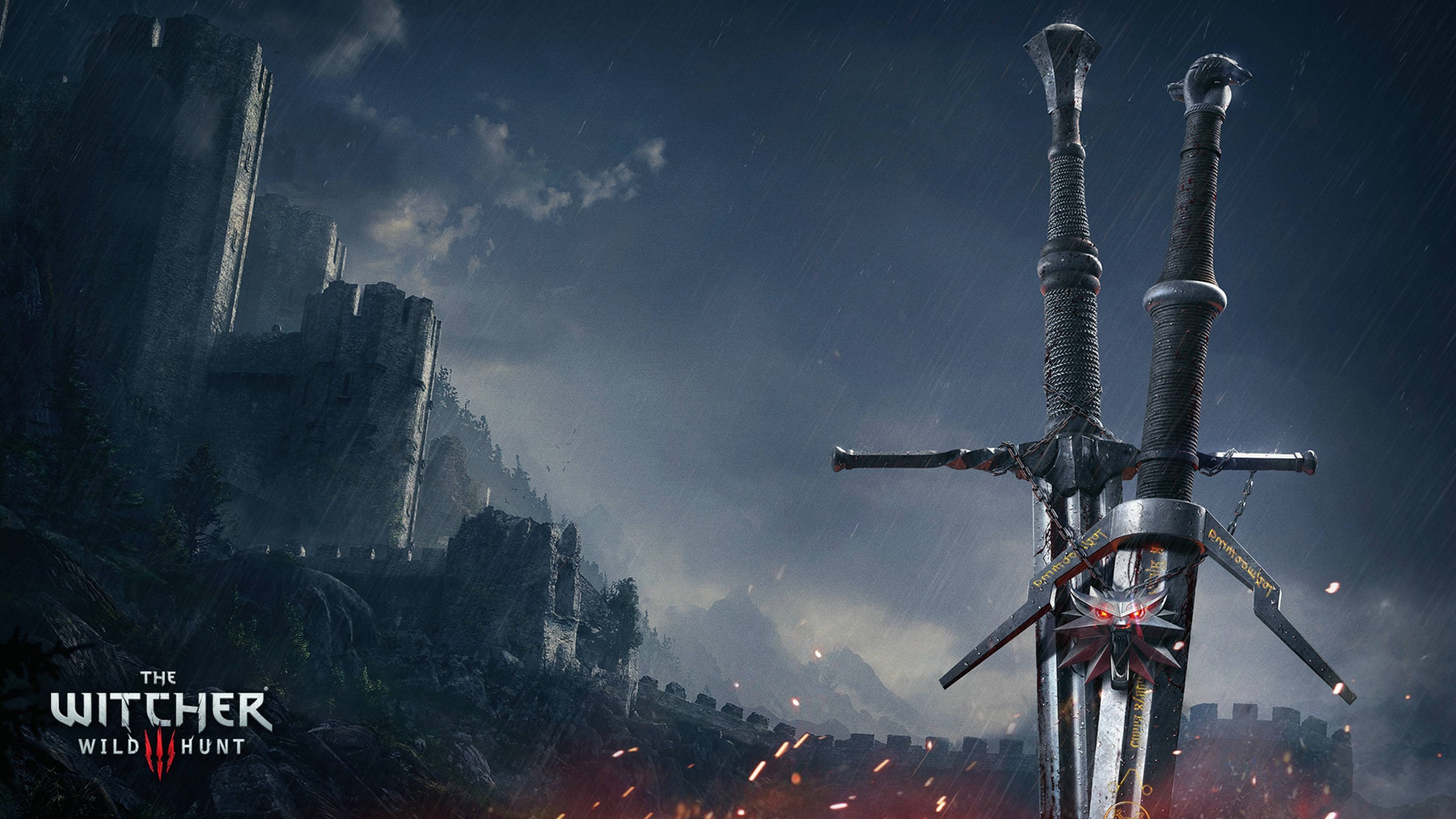 The Witcher 3 3d Wallpaper Witcher 3 Wild Hunt Swords Wallpapers Hd Wallpapers Id