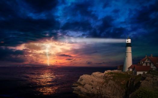 Hd Wallpaper Music 3d Sunset Lighthouse 4k Wallpapers Hd Wallpapers Id 28881
